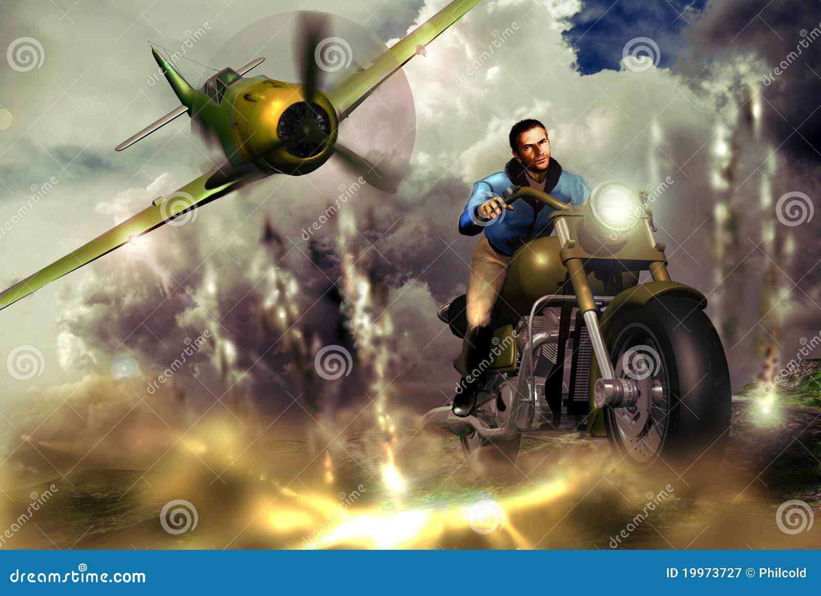 Motorista y combatiente