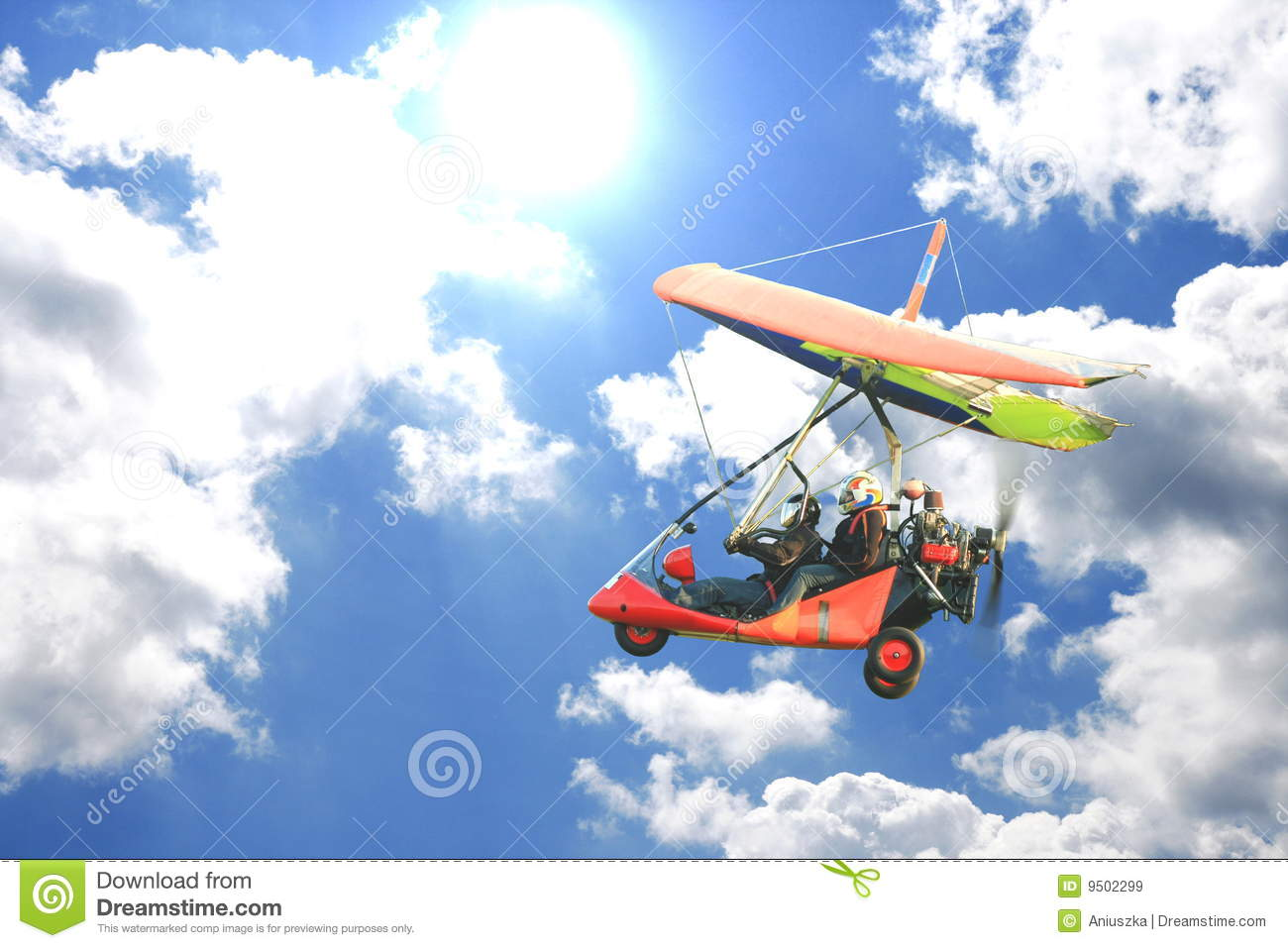 Motorized Hang Glider Royalty Free Stock Images Image