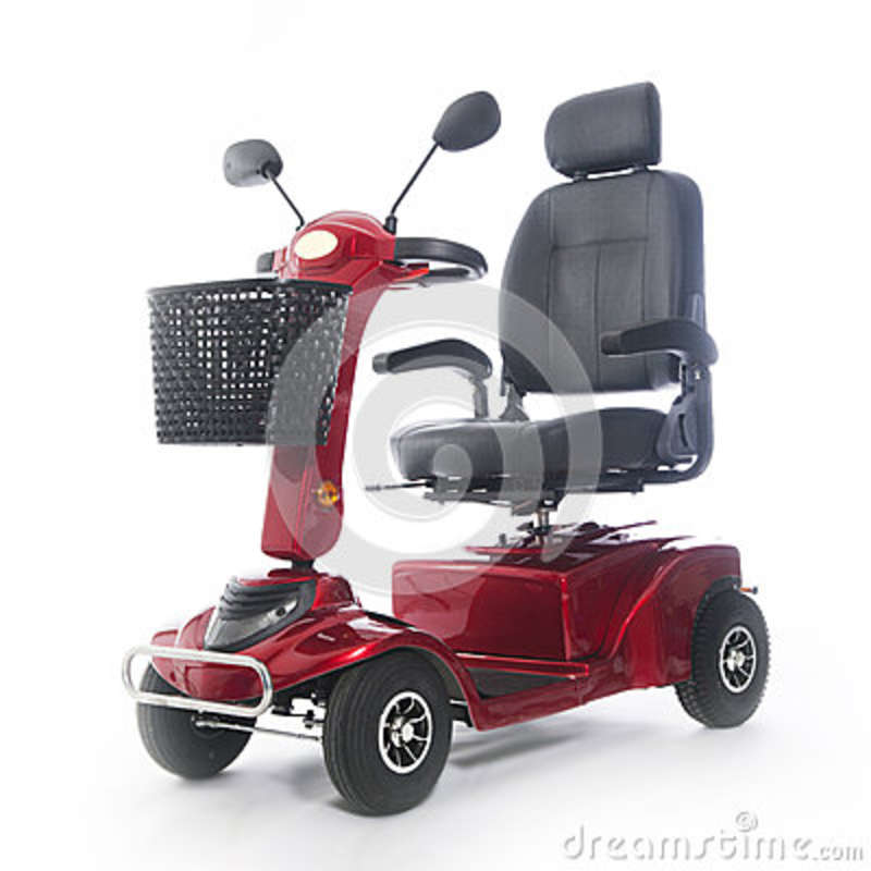 Motorized mobility scooter fot elderly people stock photo for Motorized scooters for seniors