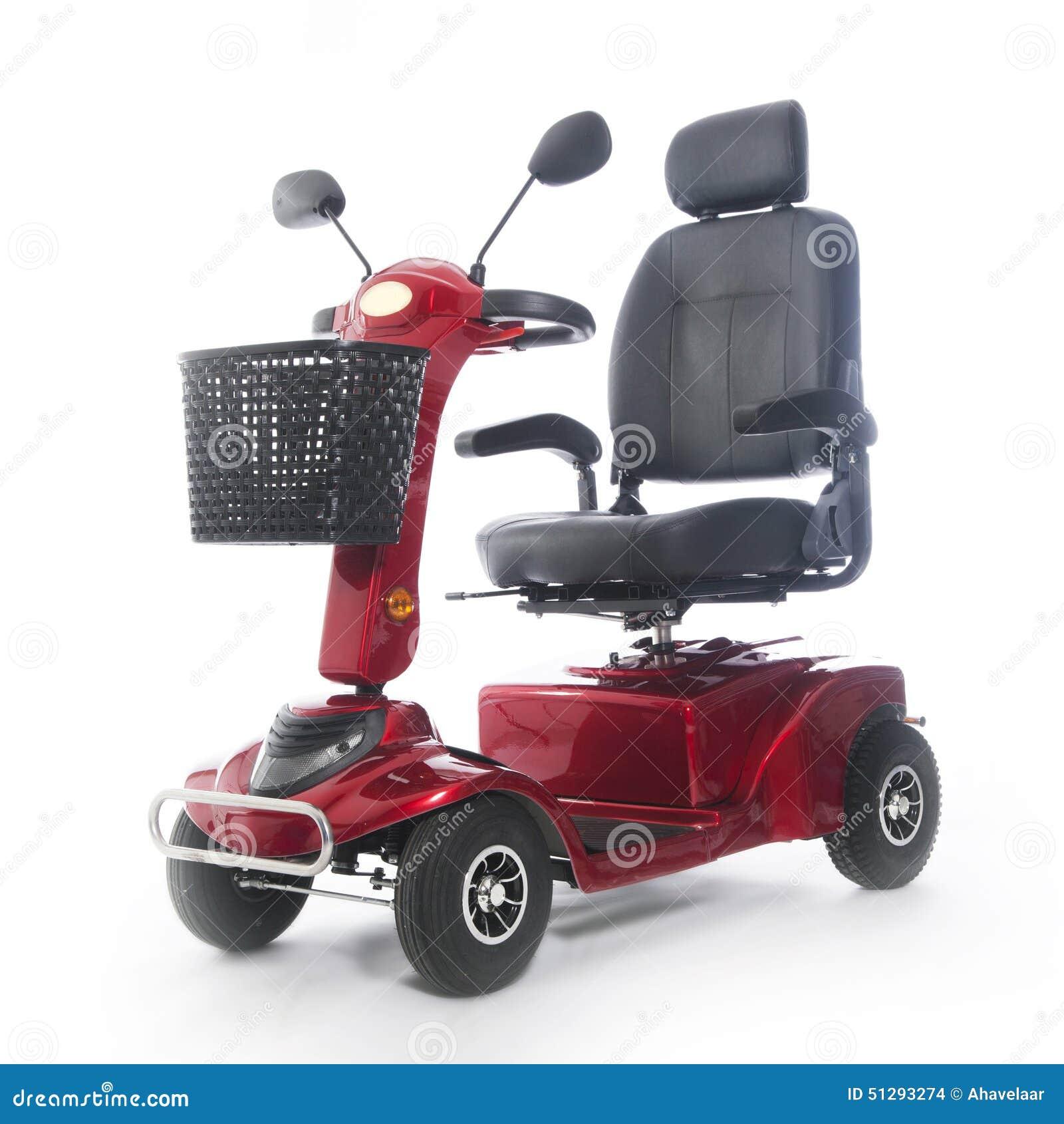 Motorized Mobility Scooter Fot Elderly People Stock Photo