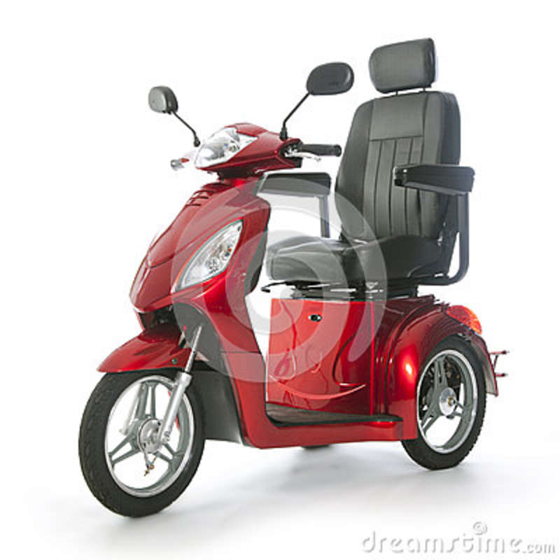 motorized mobility scooter fot elderly people stock photo image 51293788. Black Bedroom Furniture Sets. Home Design Ideas