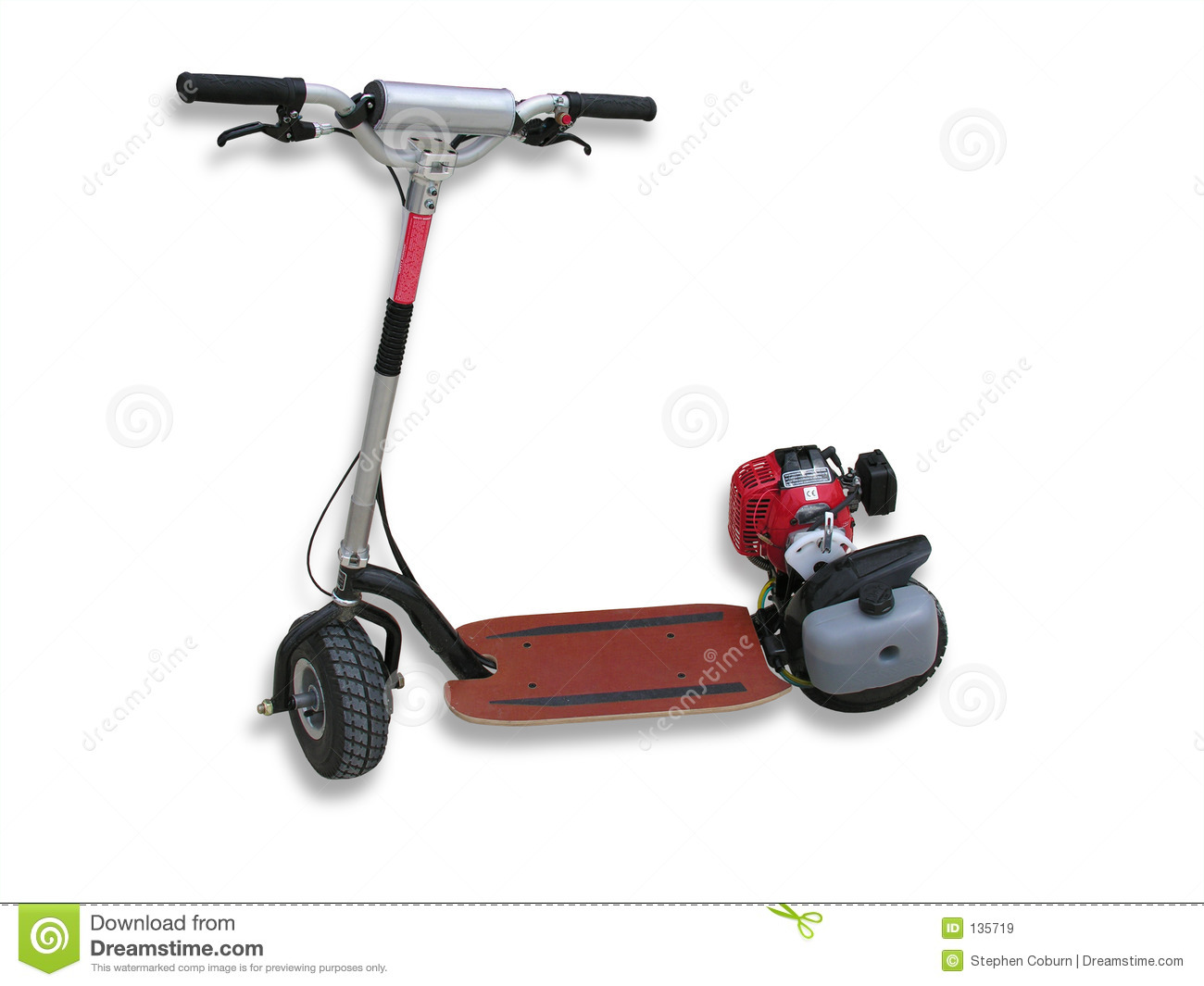 Motorized Scooter stock image. Image of board, engine ...