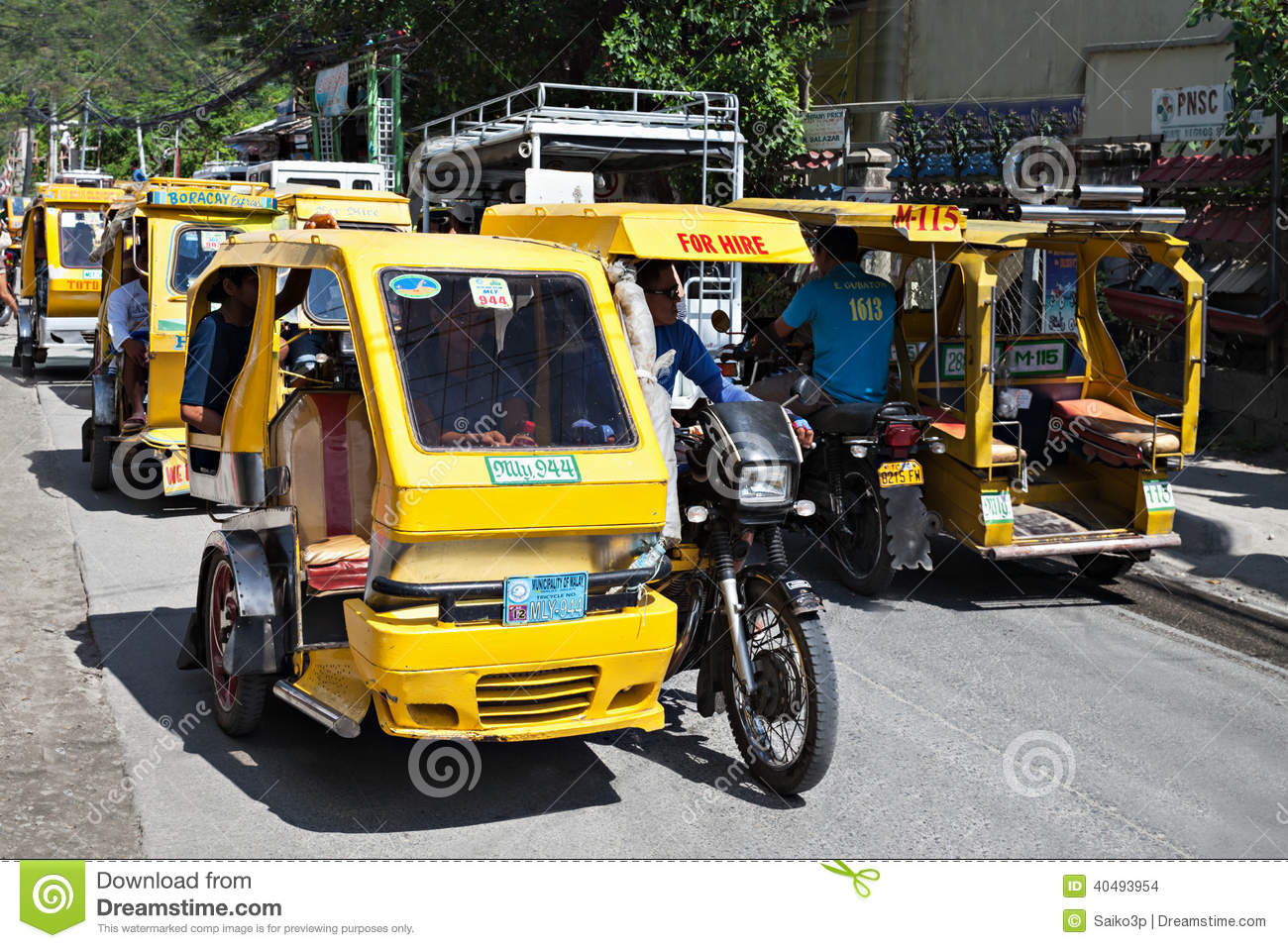 Motorized Tricycle Editorial Stock Image Image Of