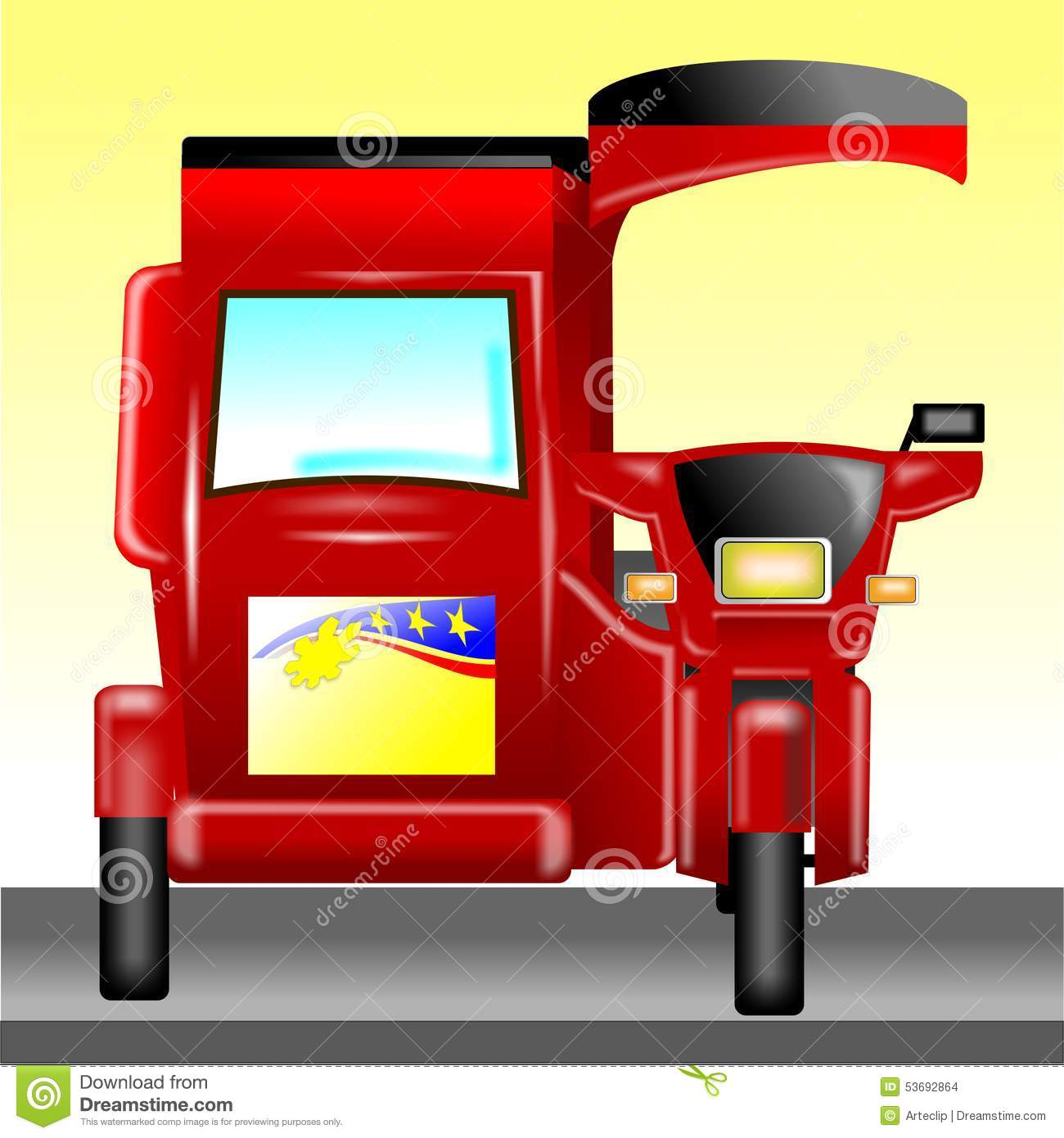Motorized Tricycle Stock Illustrations 76 Motorized Tricycle Stock Illustrations Vectors Clipart Dreamstime