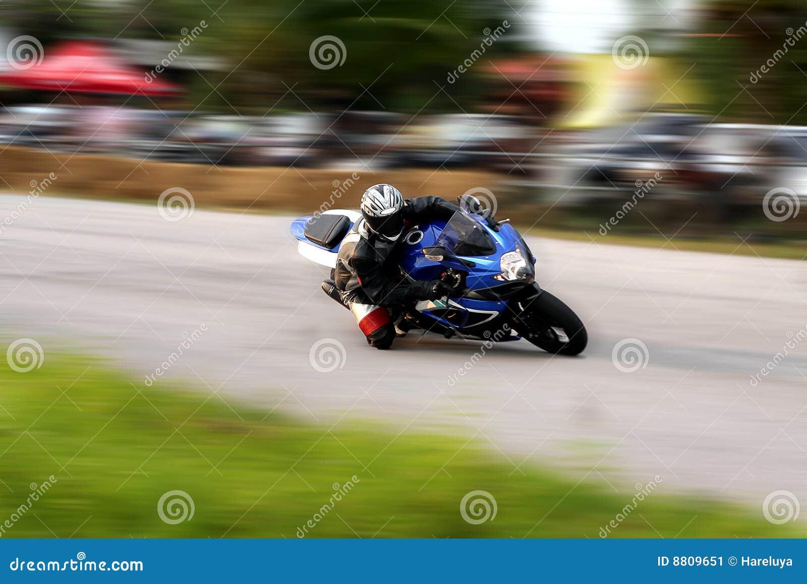 Motorrad-Laufen