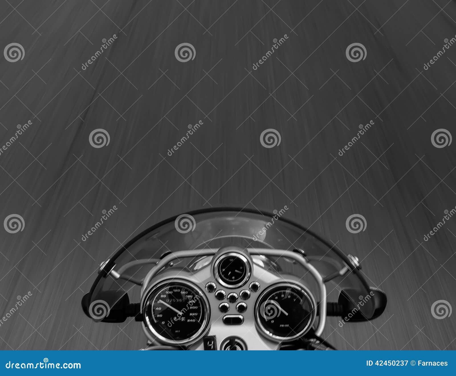 Motorradreiteransicht
