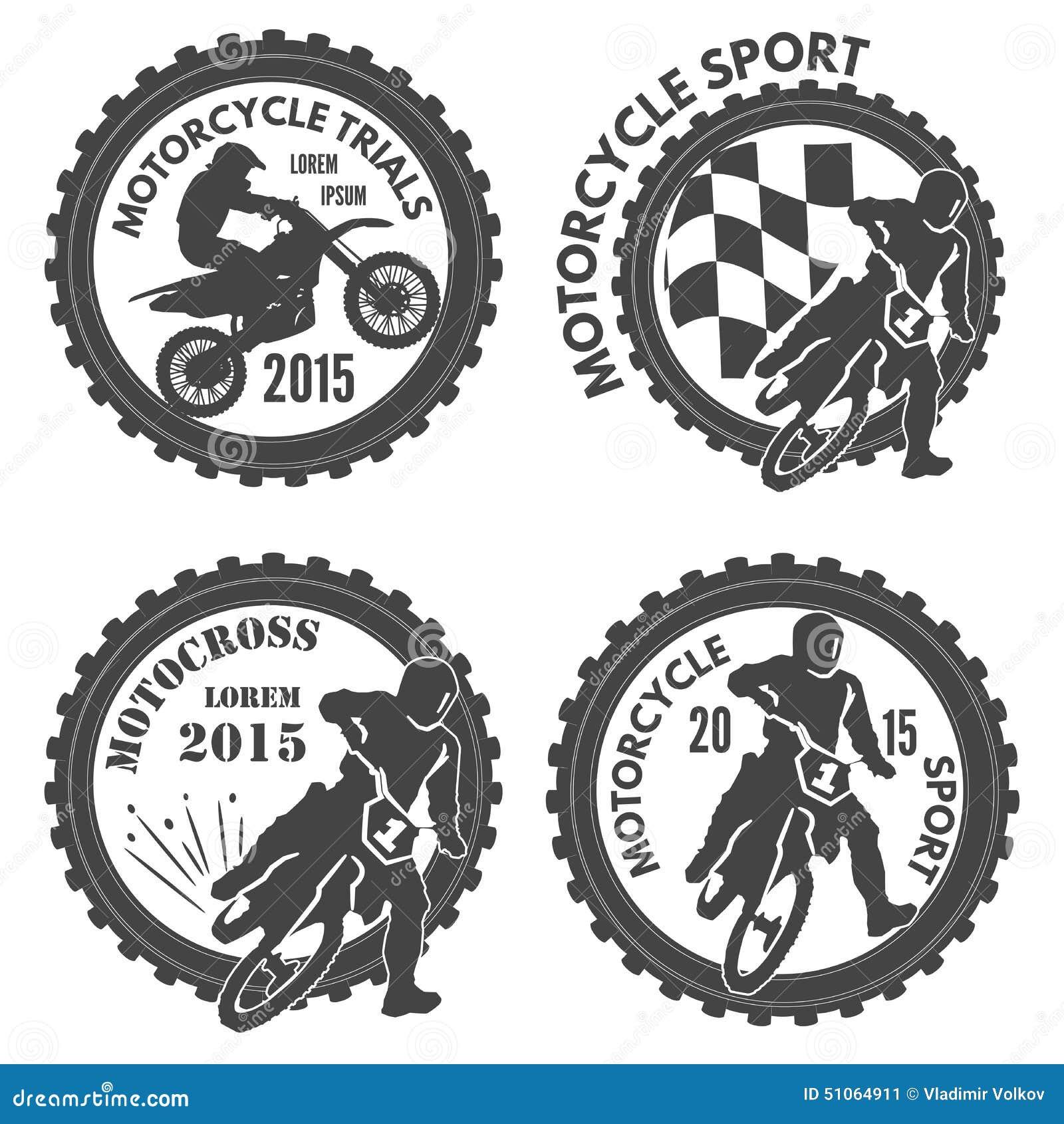 Motorradsportaufkleber