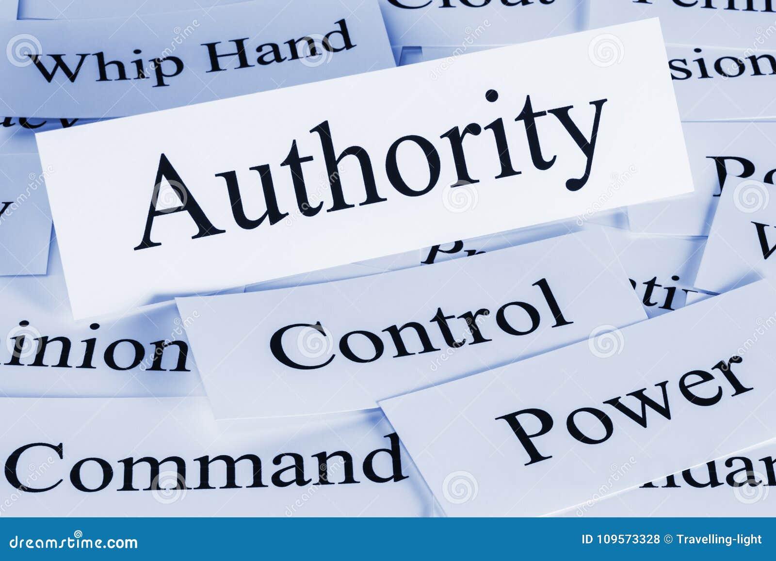 Mots de concept d autorité
