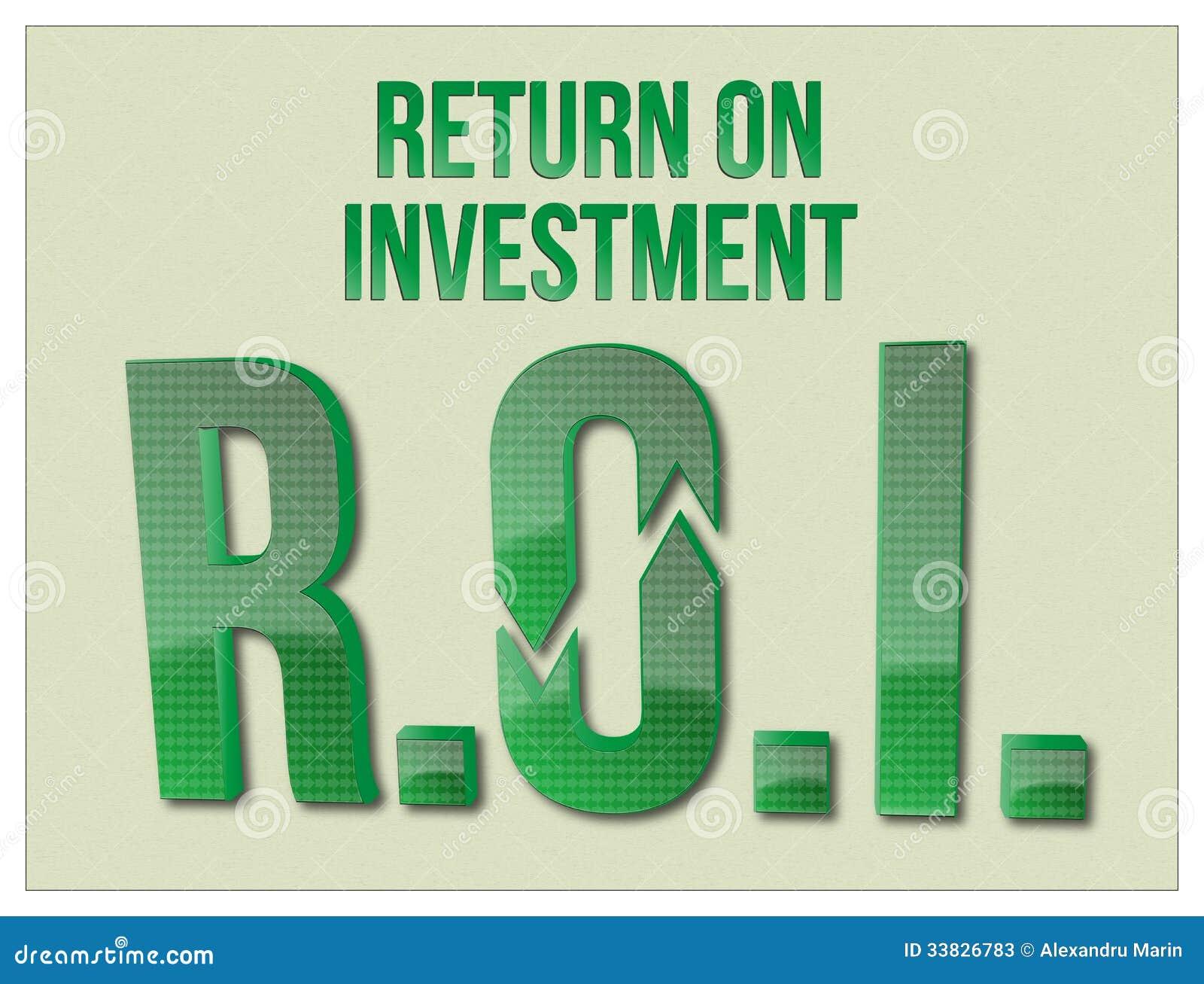 Mots de ROI Return On Investment