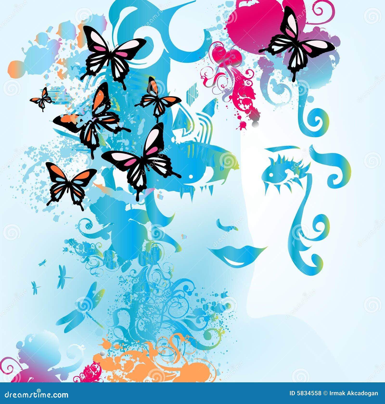 Motyl kobieta