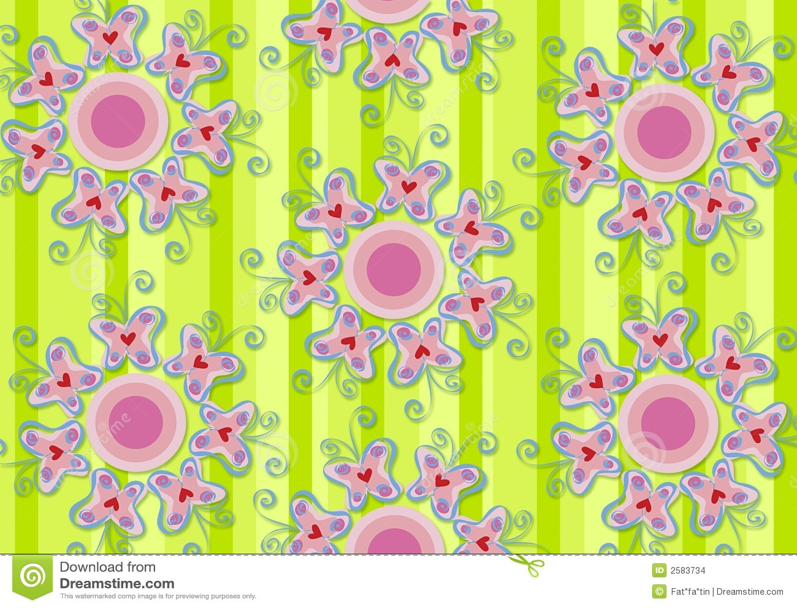 Motyle ogródek uprawiają serce różowy