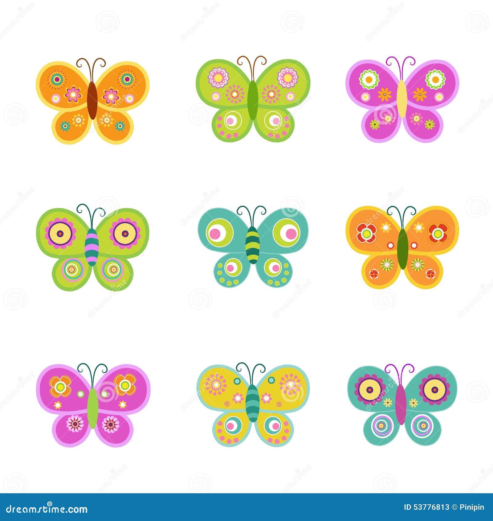 Motyle retro