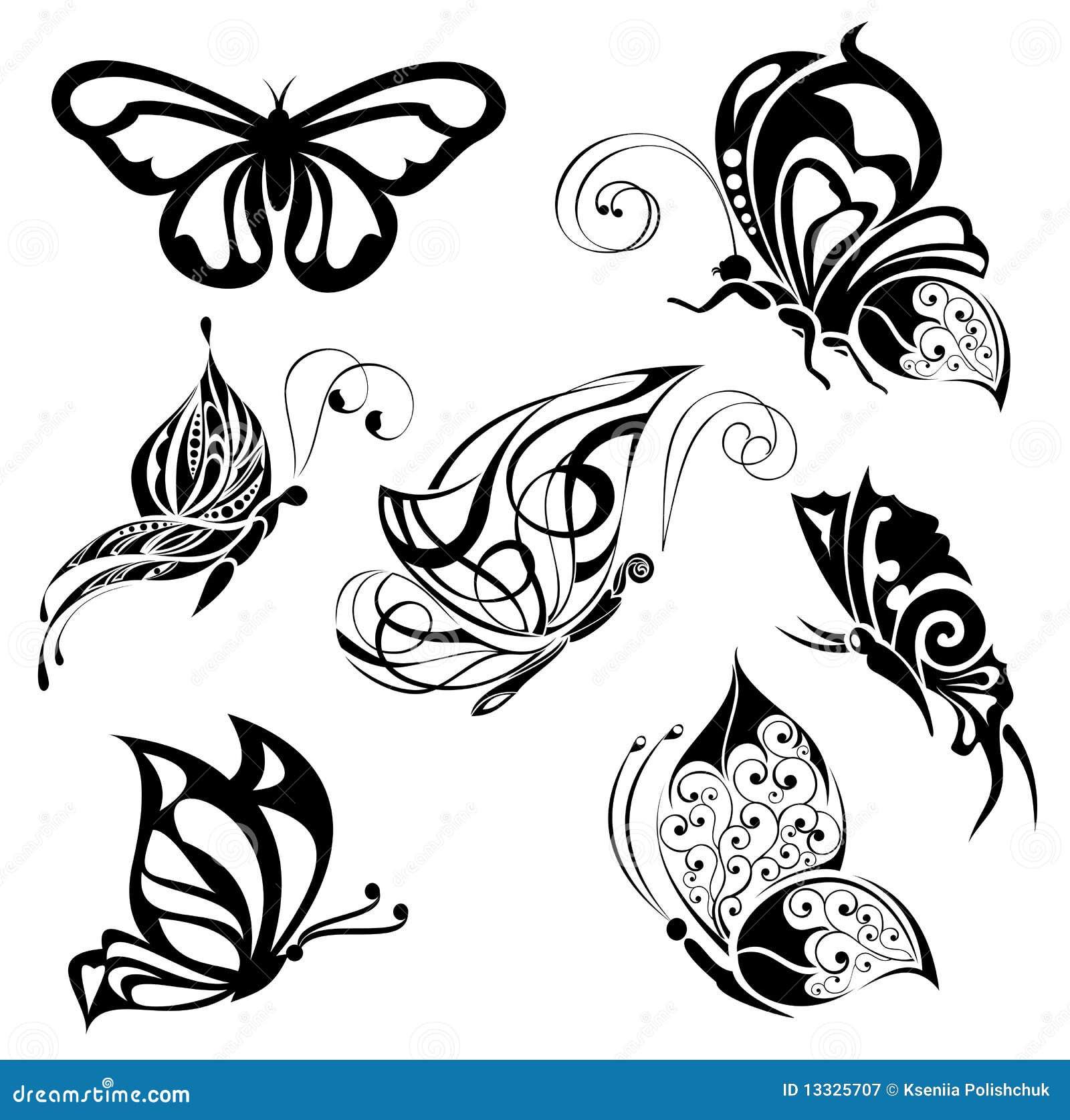 Motyle ustawiający tatuaż