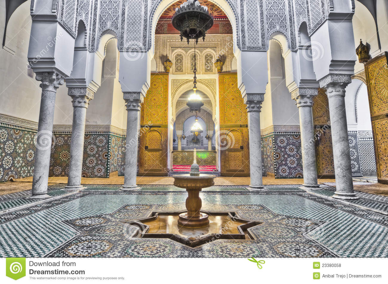 Meknes Morocco  city photo : Moulay Ismail Mausoleum At Meknes, Morocco Royalty Free Stock Photos ...