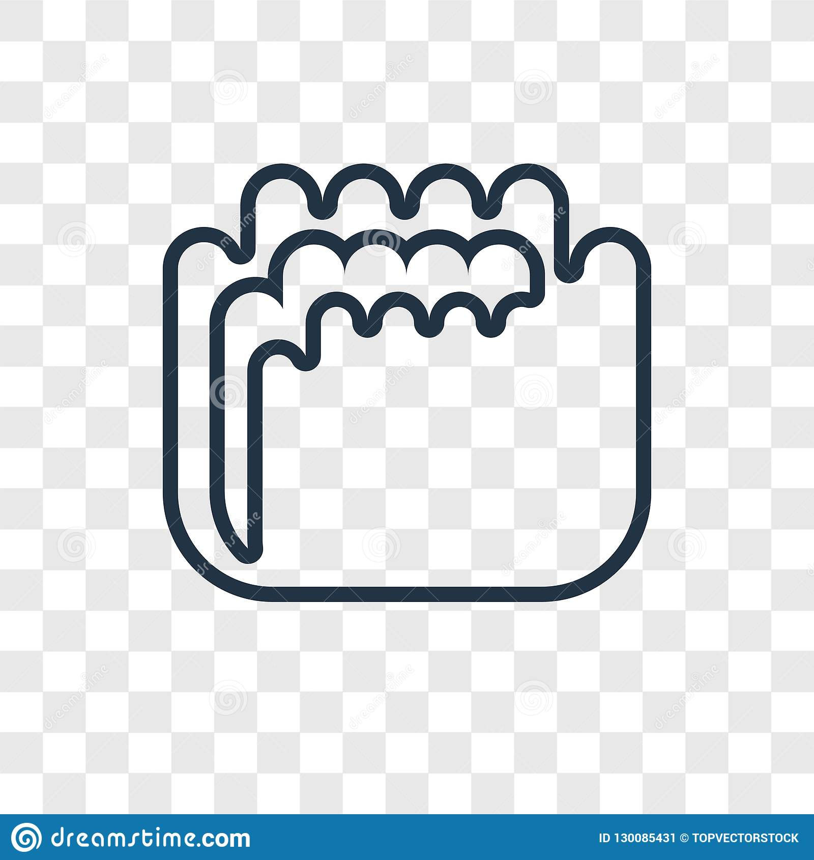 Mould concept vector linear icon isolated on transparent background, Mould concept transparency logo in outline style