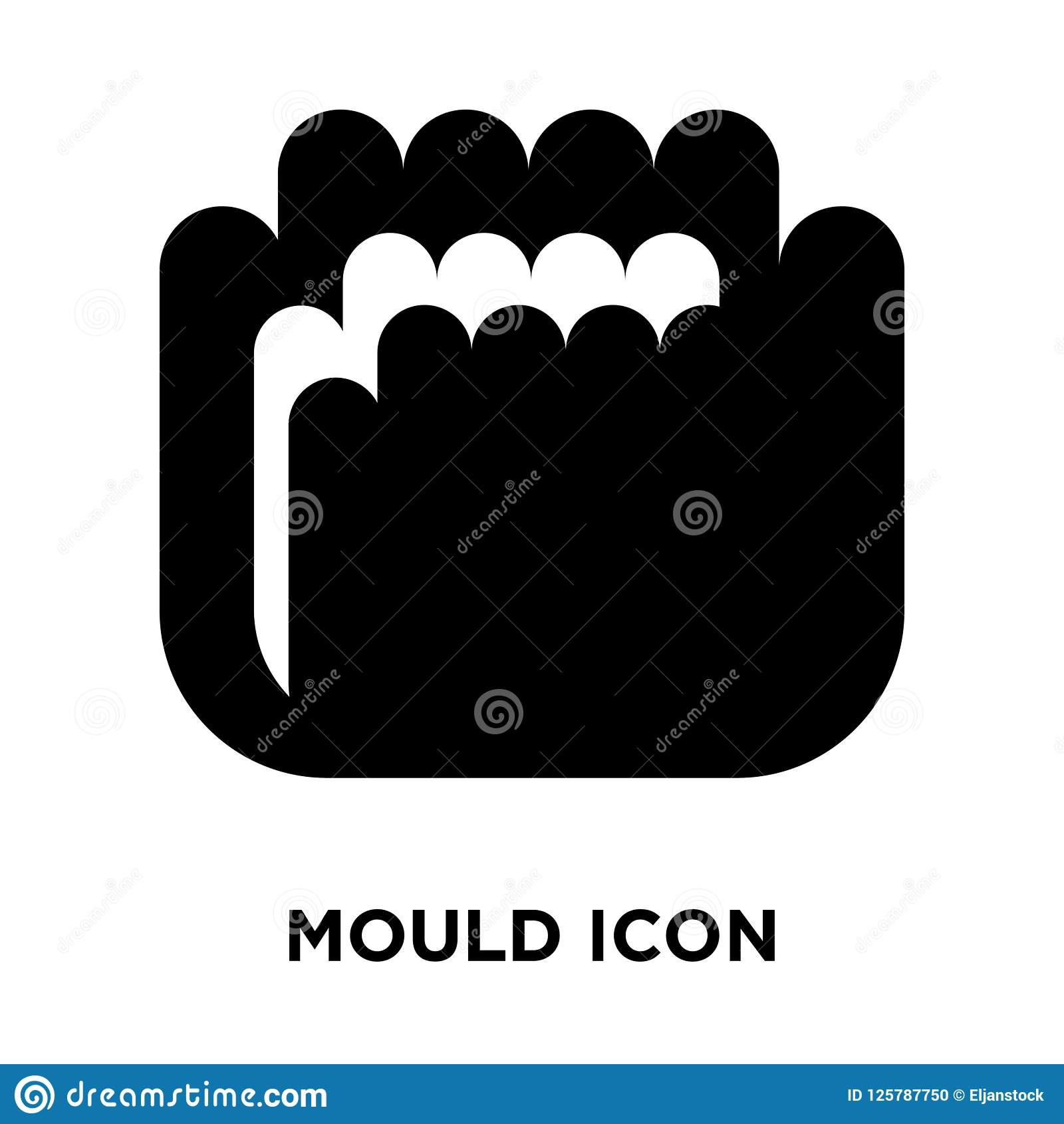 Mould icon vector isolated on white background, logo concept of