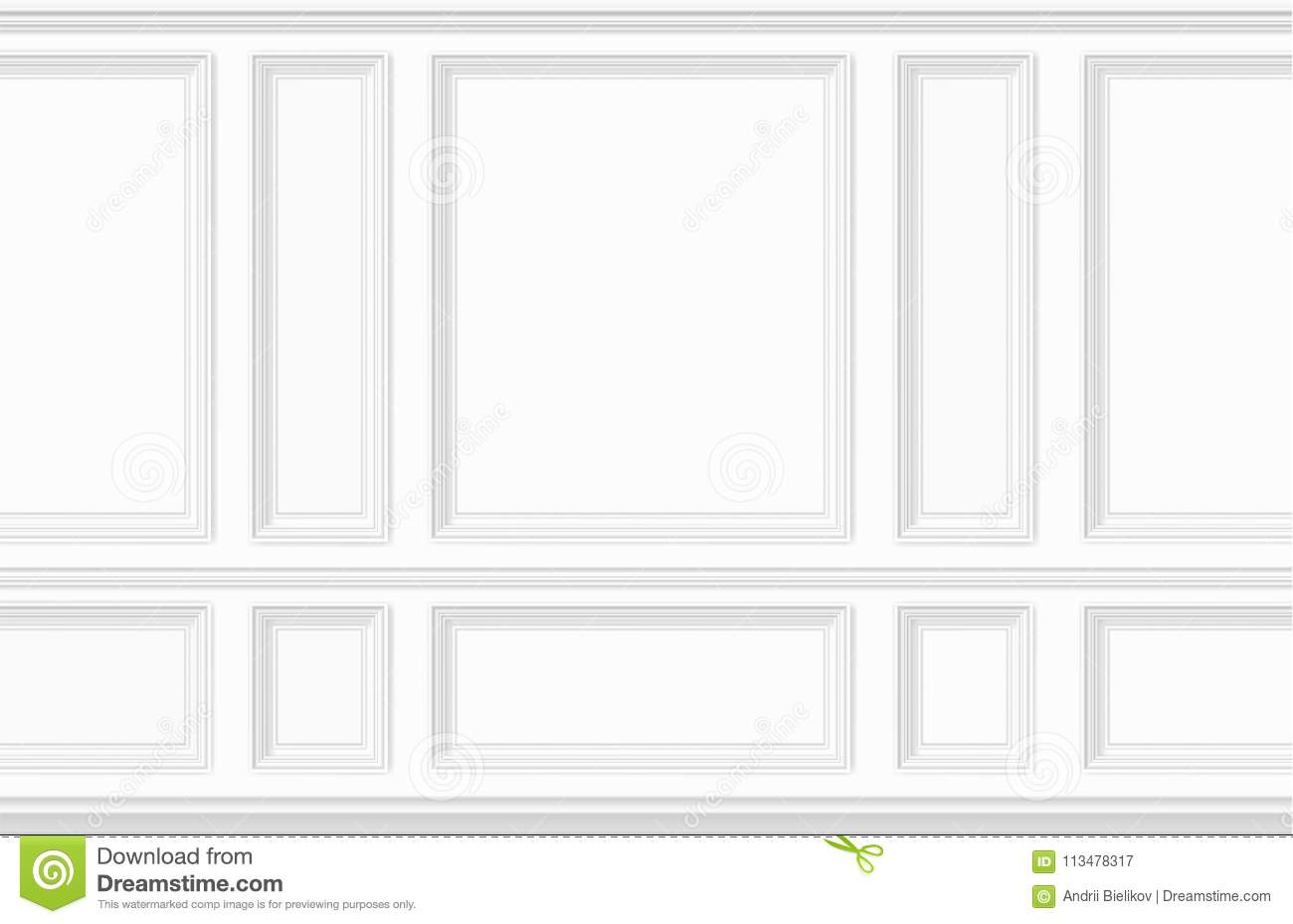 Moulding White Wall Panel Stock Vector Illustration Of