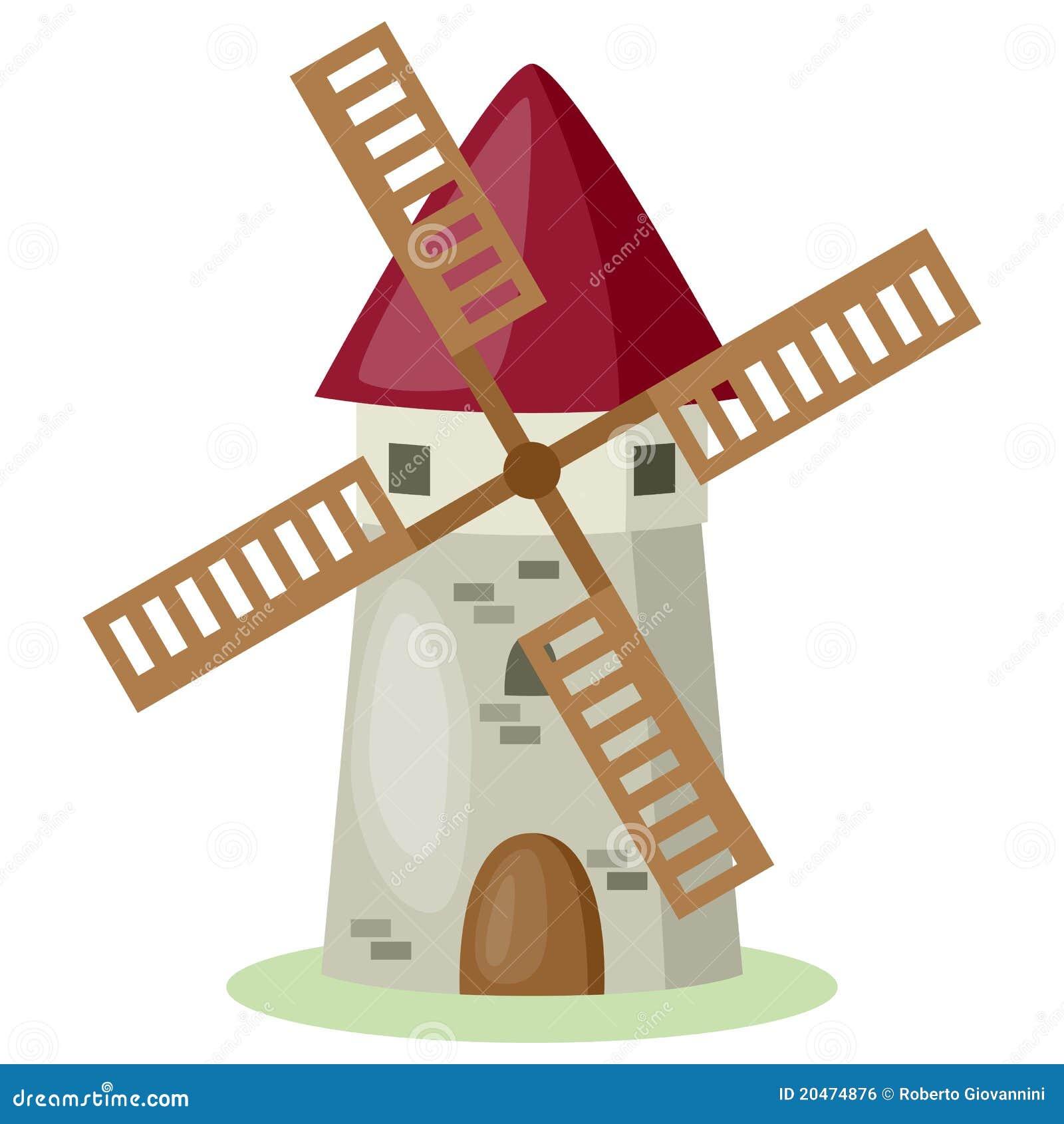 Moulin vent de dessin anim image libre de droits image 20474876 - Coloriage farine ...