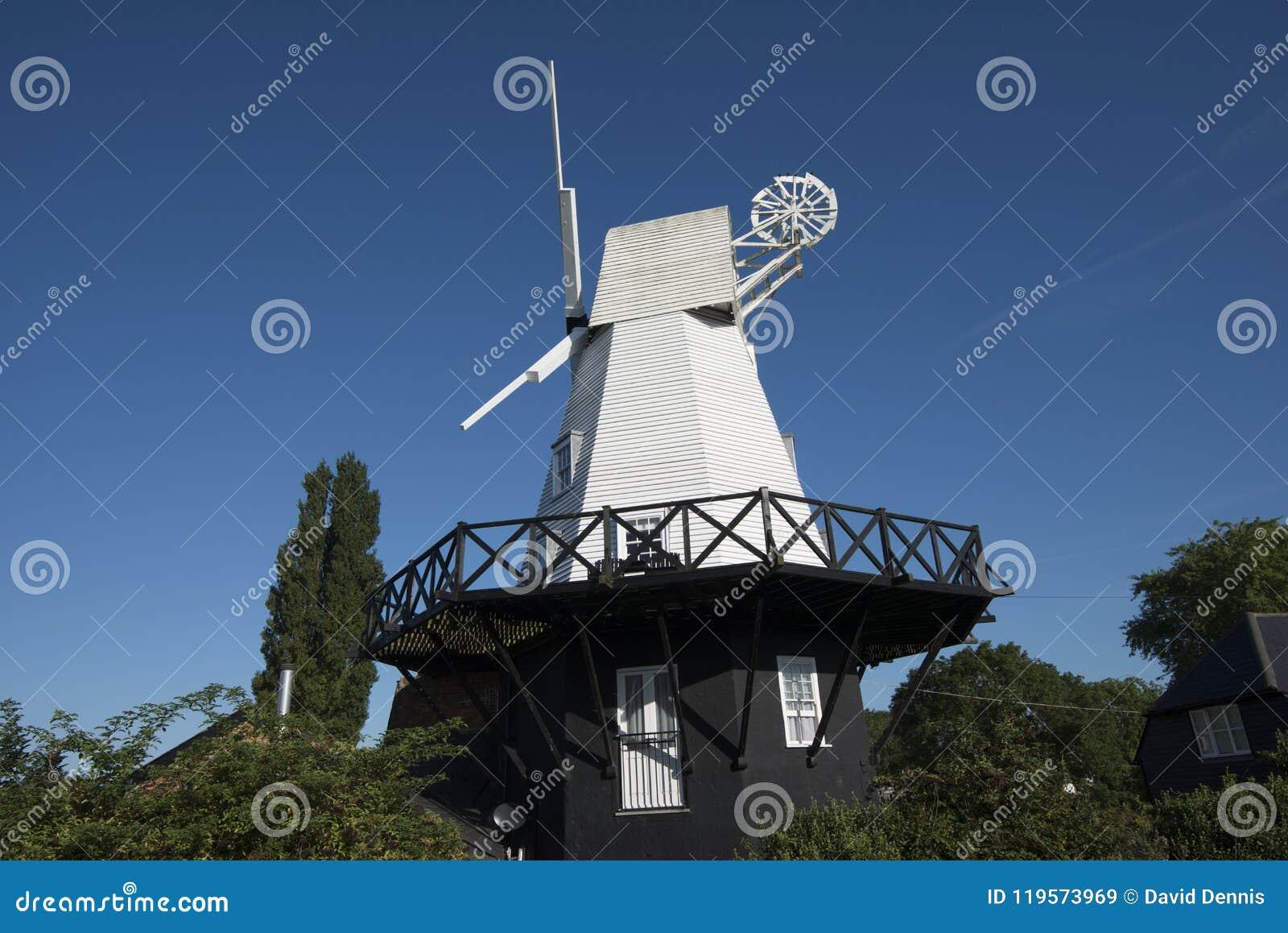 Moulin à vent de Rye dans la ville antique célèbre de Rye dans le Sussex est, Angleterre