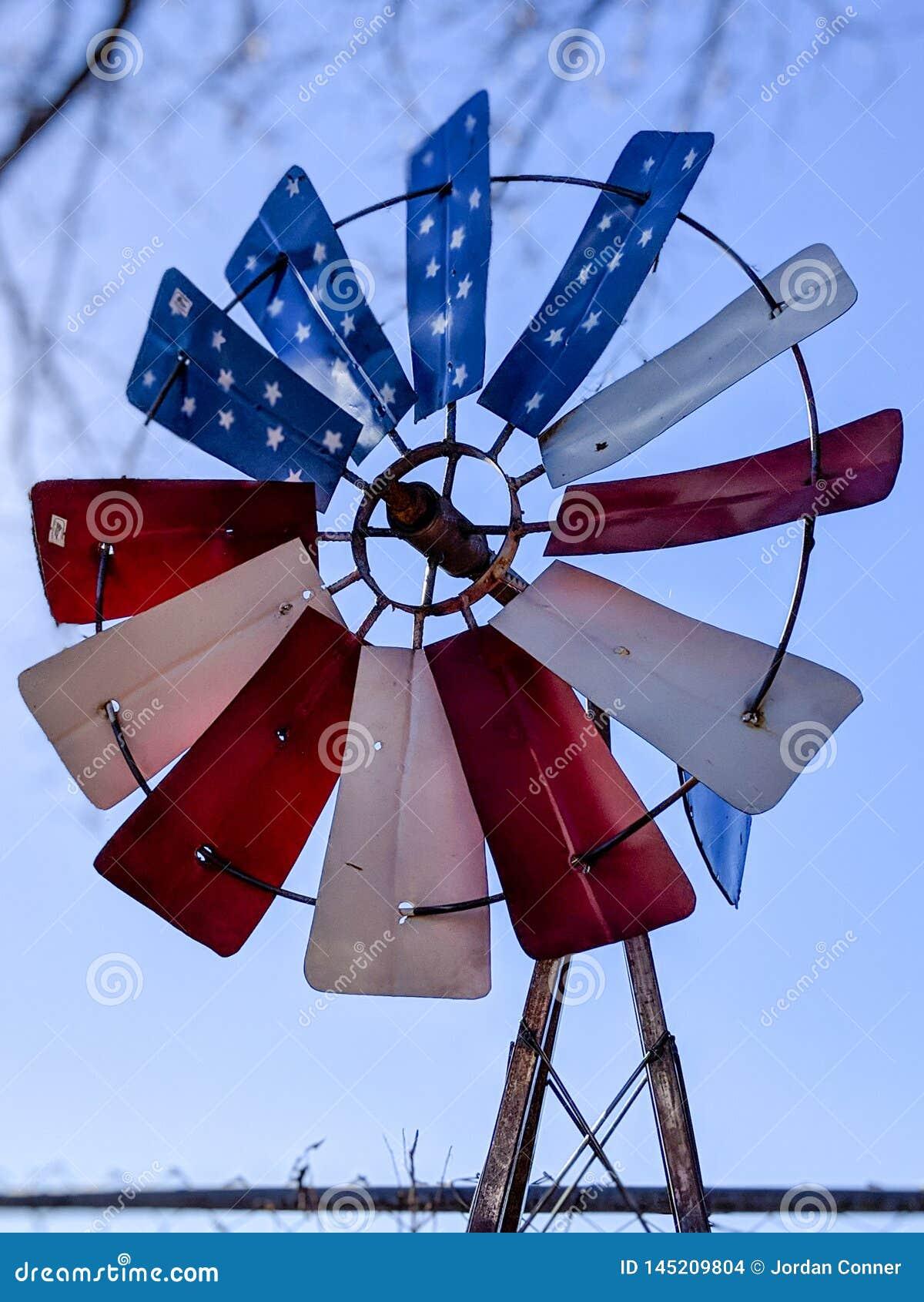 Moulin à vent patriotique américain