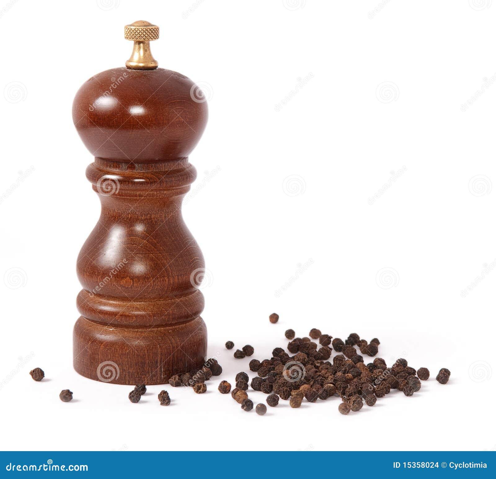 moulin de poivre et grain de poivre noir images stock image 15358024. Black Bedroom Furniture Sets. Home Design Ideas