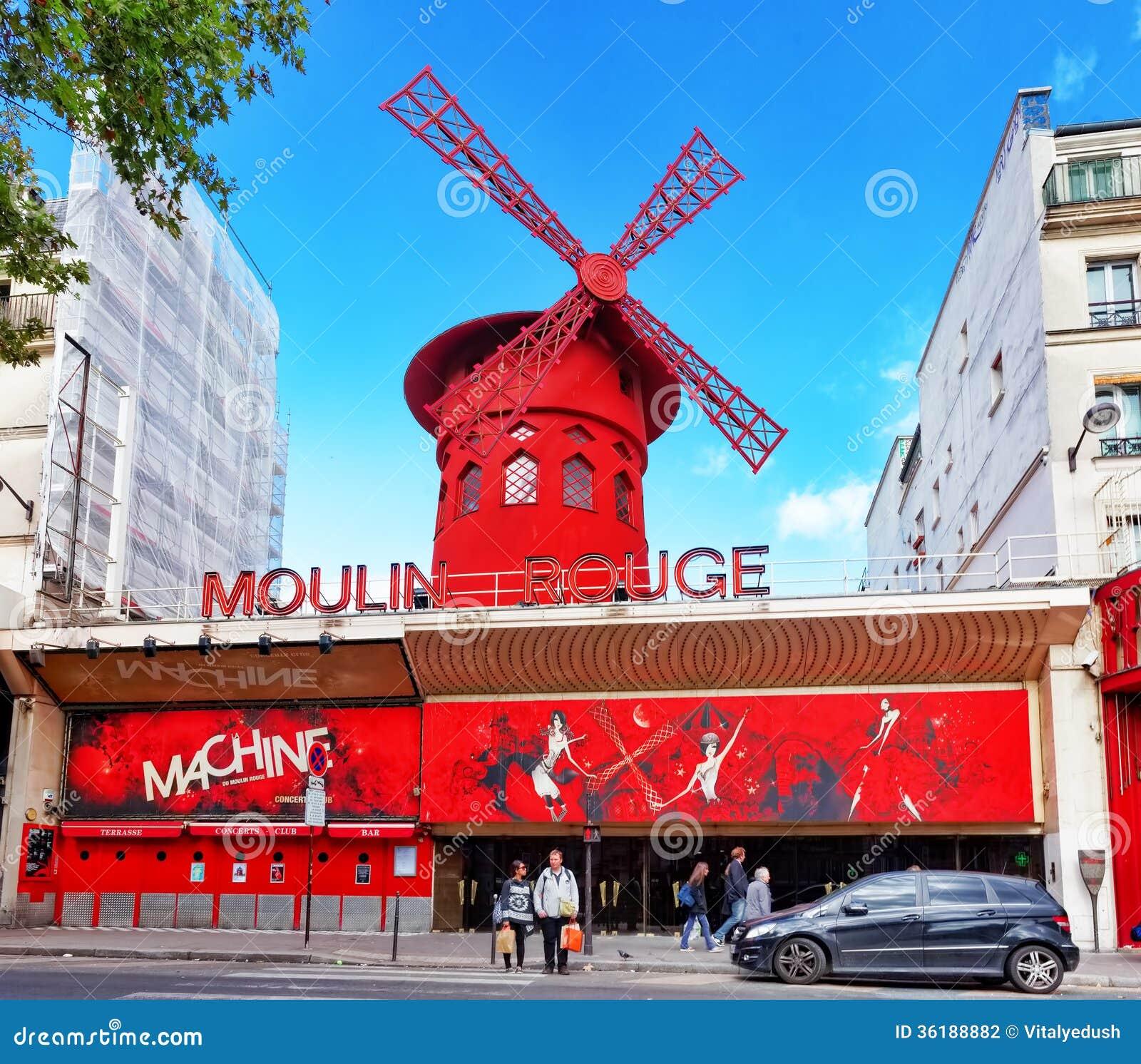 Cafe Moulin Rouge Paris