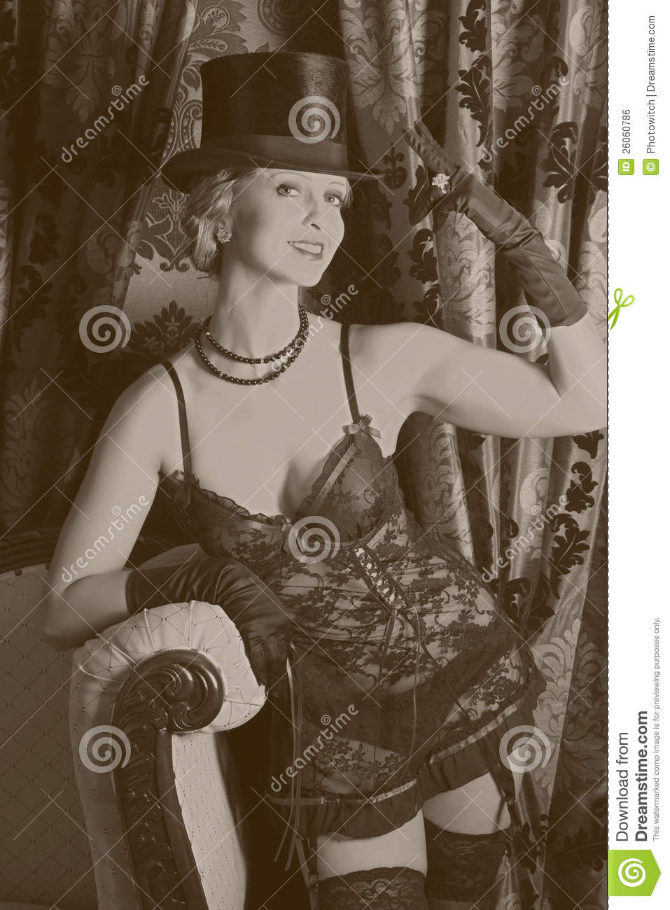moulin rouge style in sepia royalty free stock image