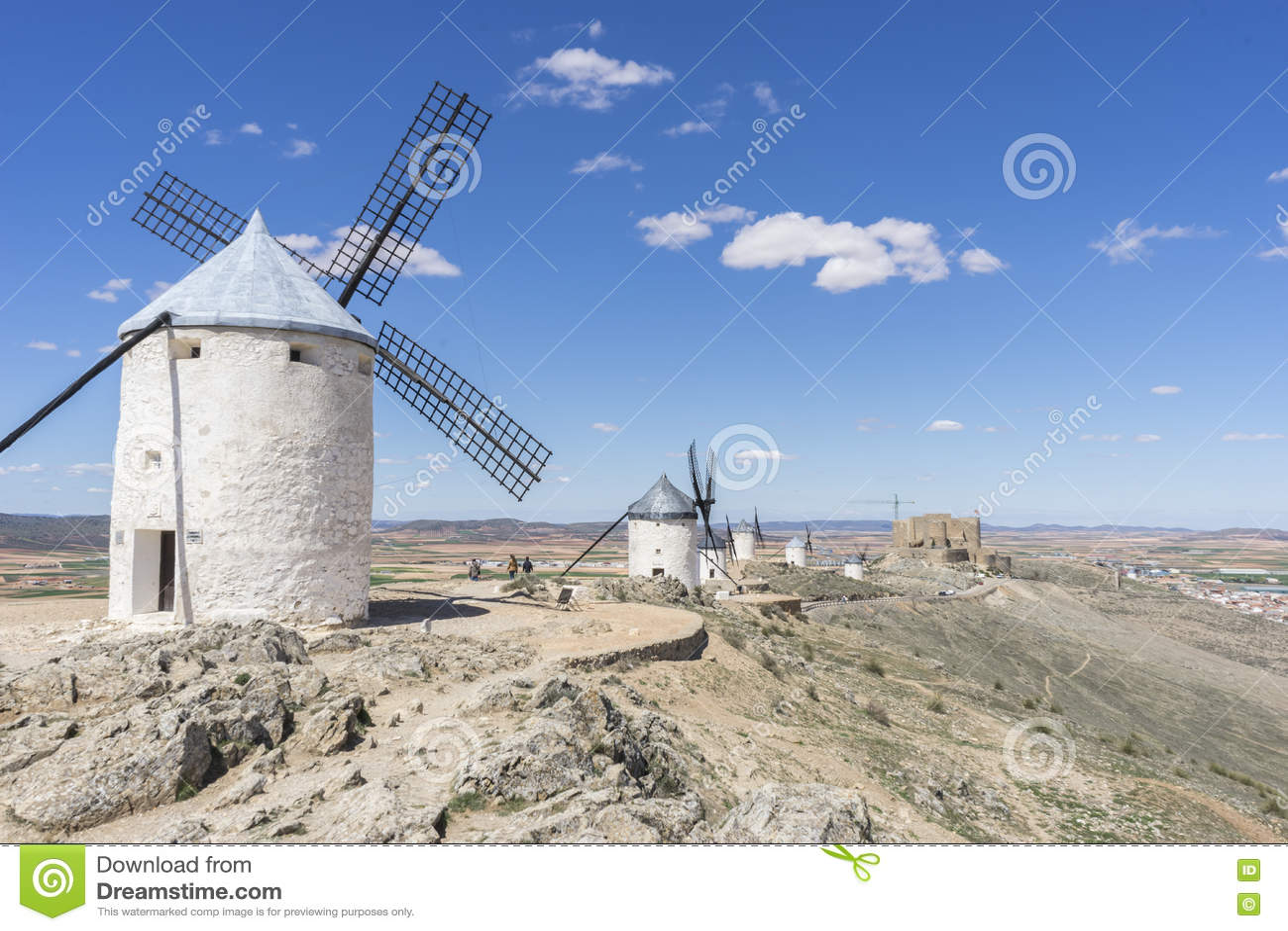 Moulins à vent de Consuegra à Toledo, Espagne Ils ont servi à rectifier le GR