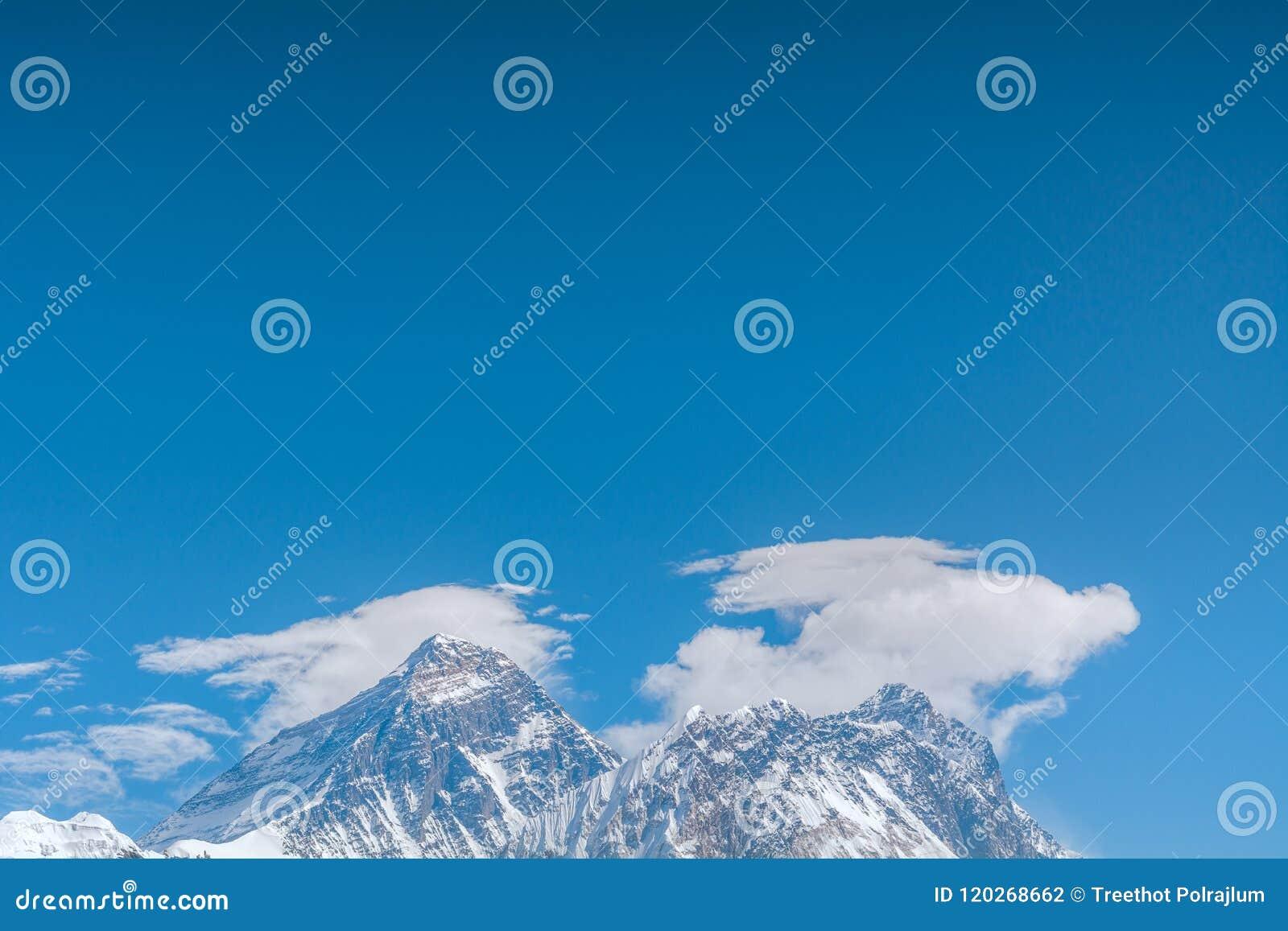 Mount Everest die höchste Erhebung der Welt