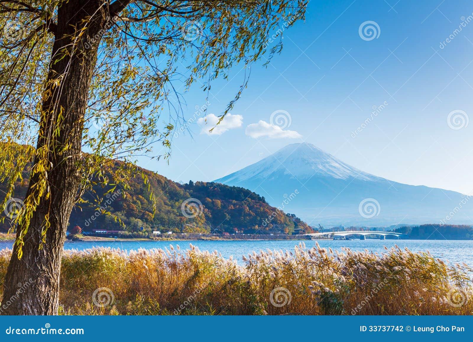Mount Fuji и озеро