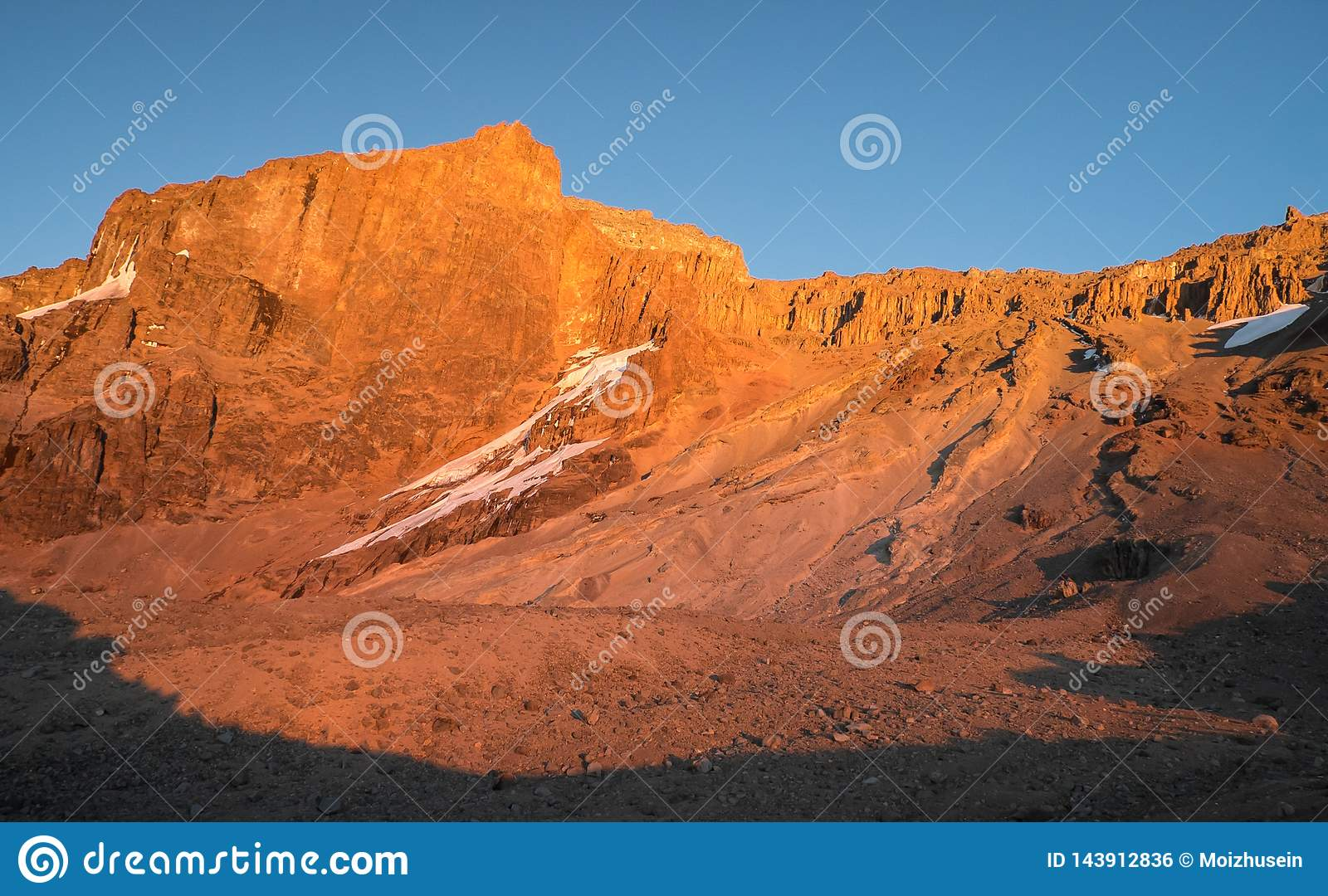Mount Kilimanjaro - the highest mountain in Tanzania and Africa