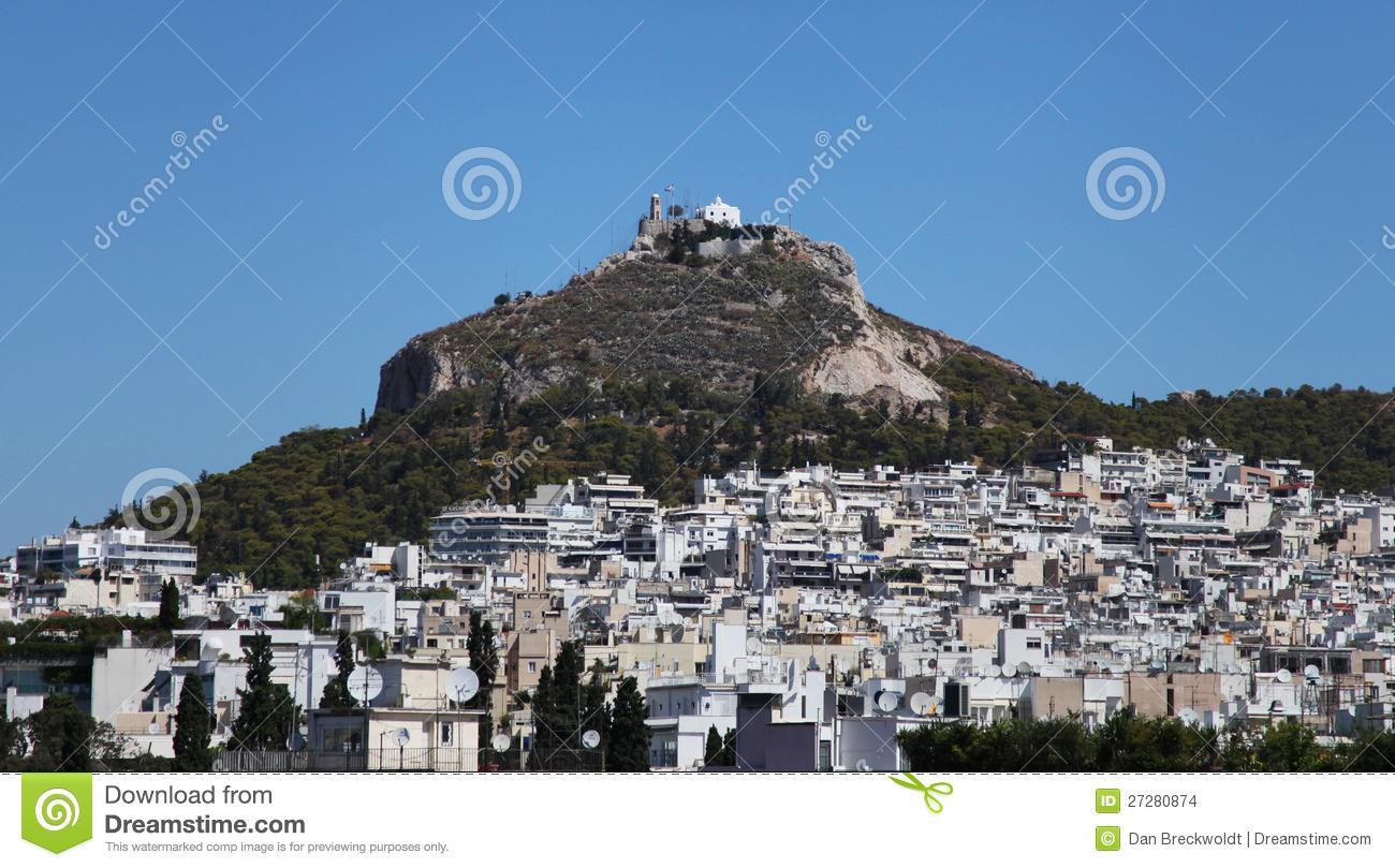 Mount Lycabettus In Athens Stock Images - Image: 27280874