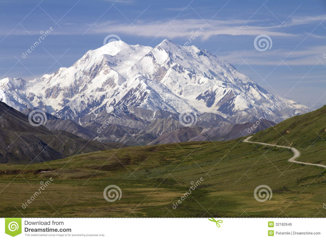 Mt McKinley In Denali National Park Panorama Royalty Free Stock ...