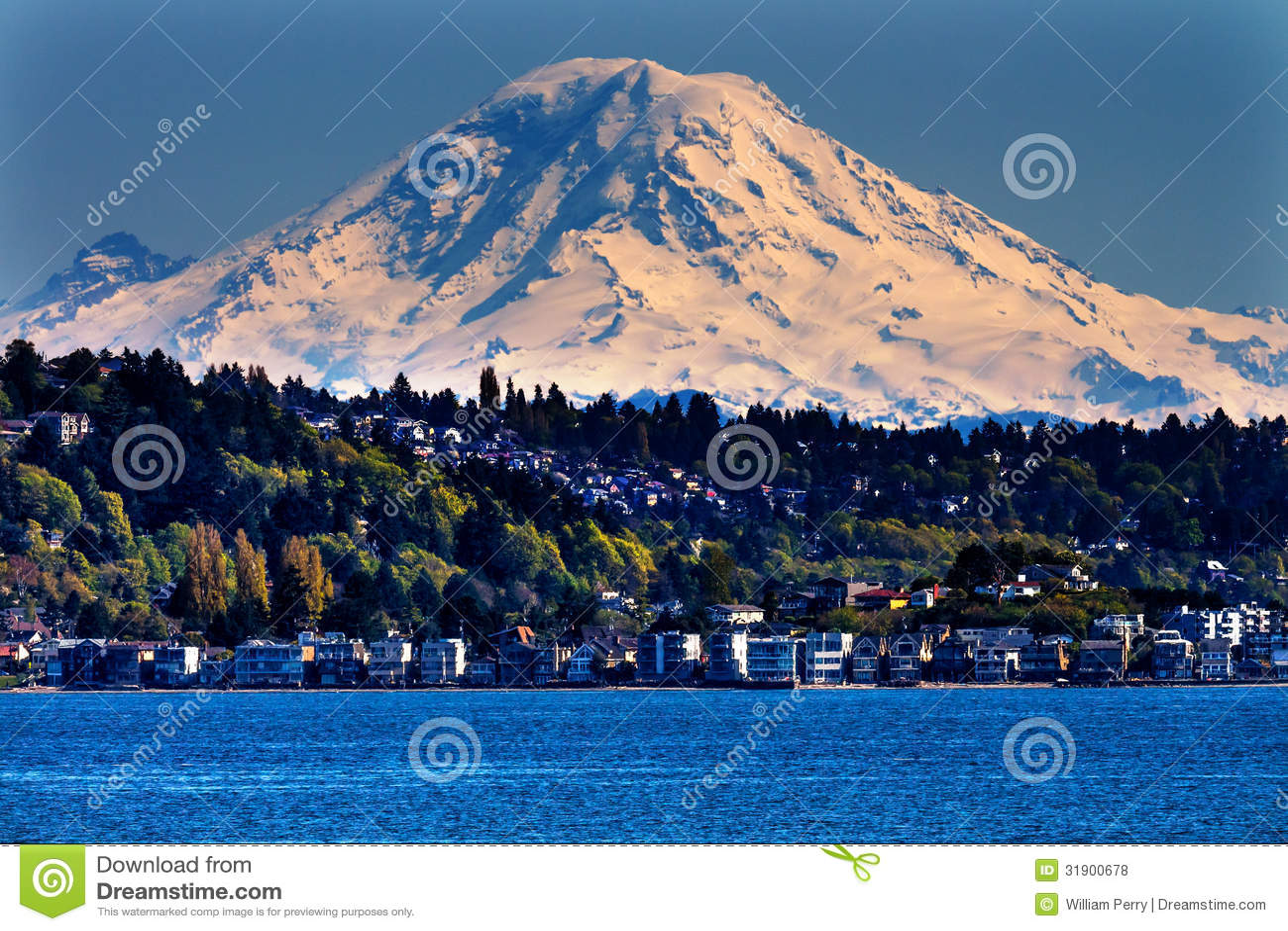 Mount Rainier Puget Sound North Seattle Washington