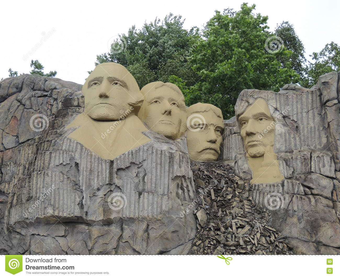 Mount Rushmore, by LEGO