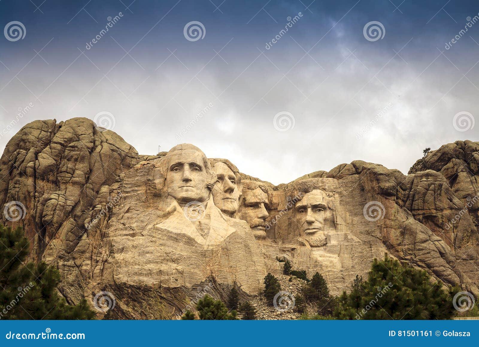 Mount Rushmore medborgare Memorial Park i South Dakota, USA Scul