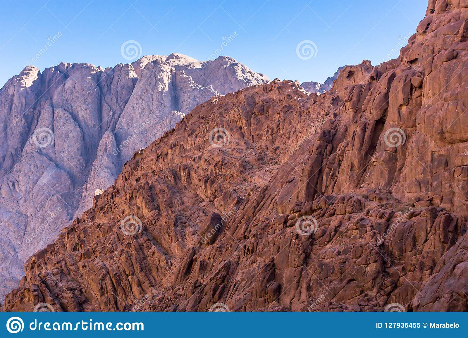 Mount Sinai, Mount Moses In Egypt  Stock Image - Image of
