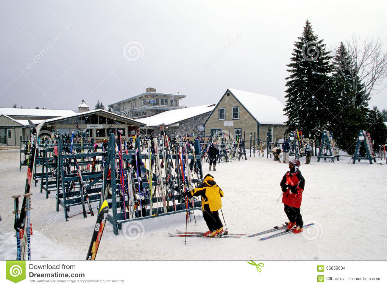 mount snow ski resort editorial stock image. image of slide - 66859604