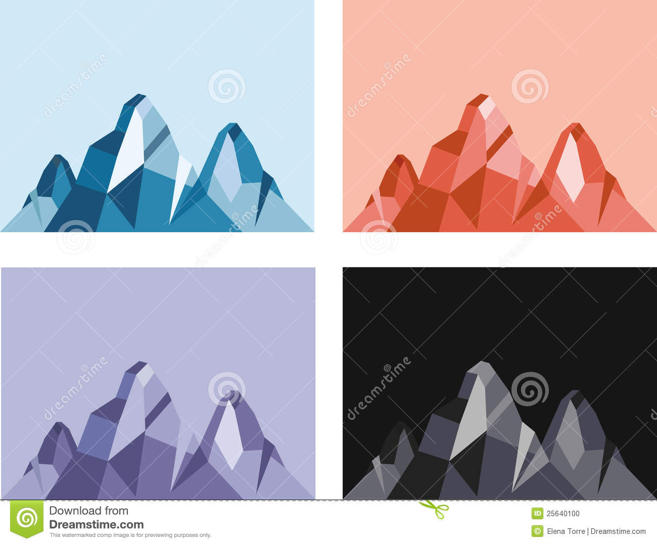 Illustration of geometric mountain in different color tones + vector ... Glass Texture Seamless