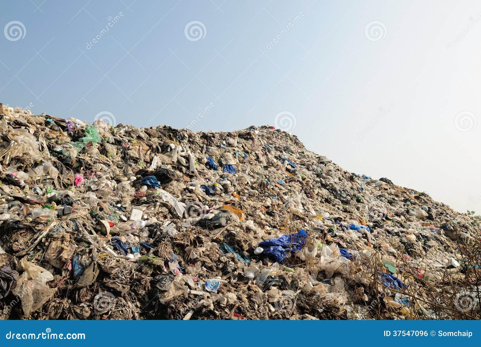 Mountain Of Big Garbage Royalty Free Stock Image