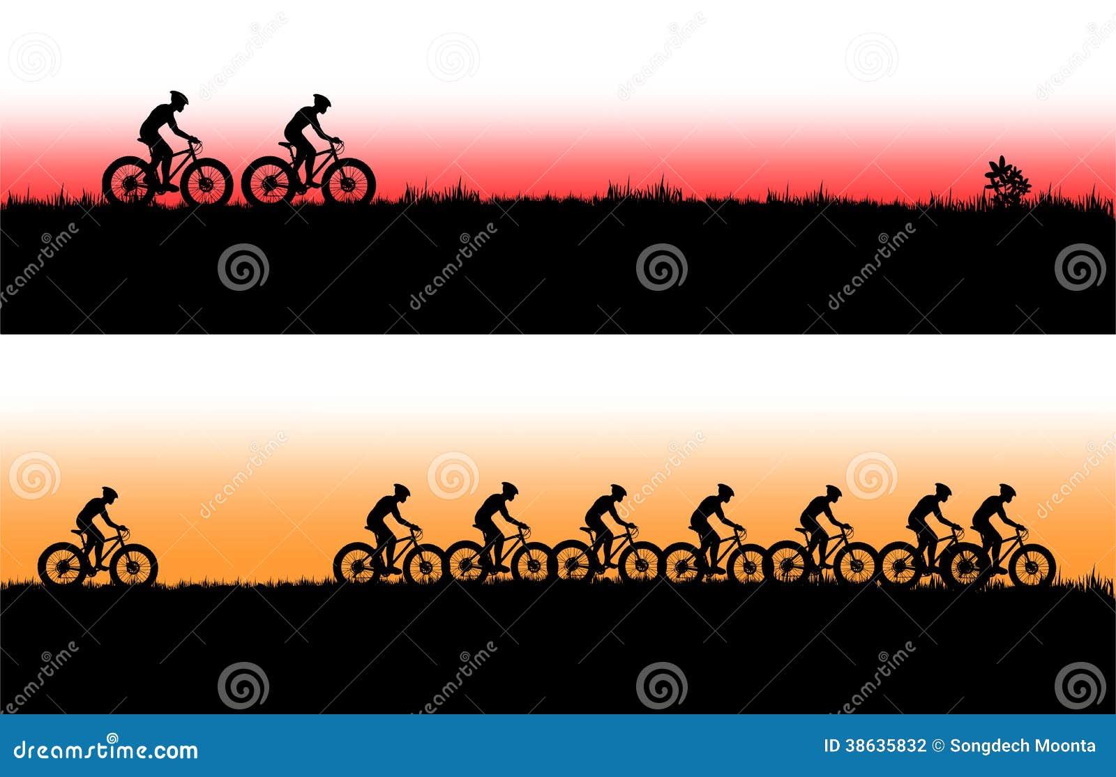 Mountain Bike Banner Stock Illustration Image Of Mirror