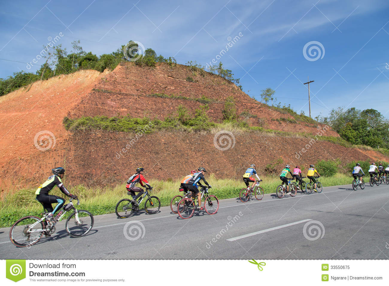 Mountain Bike Racing Competition In Yala, Thailand ...