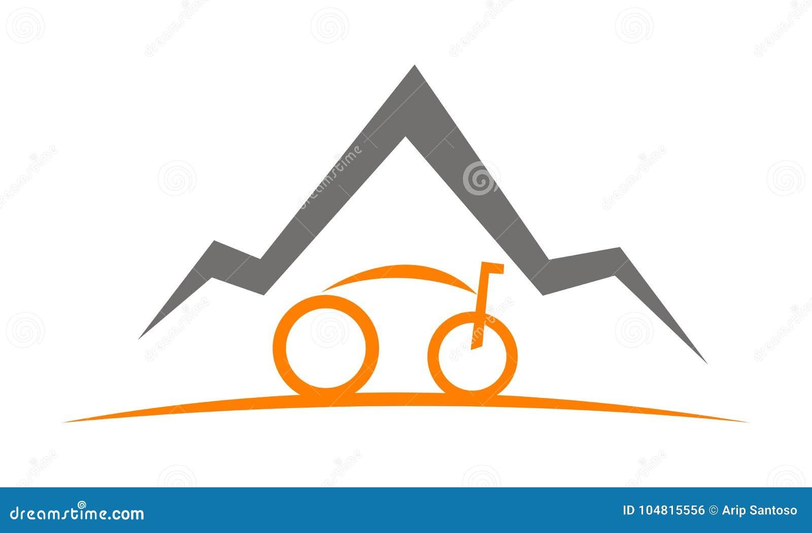 mountain bike template stock vector illustration of adventure