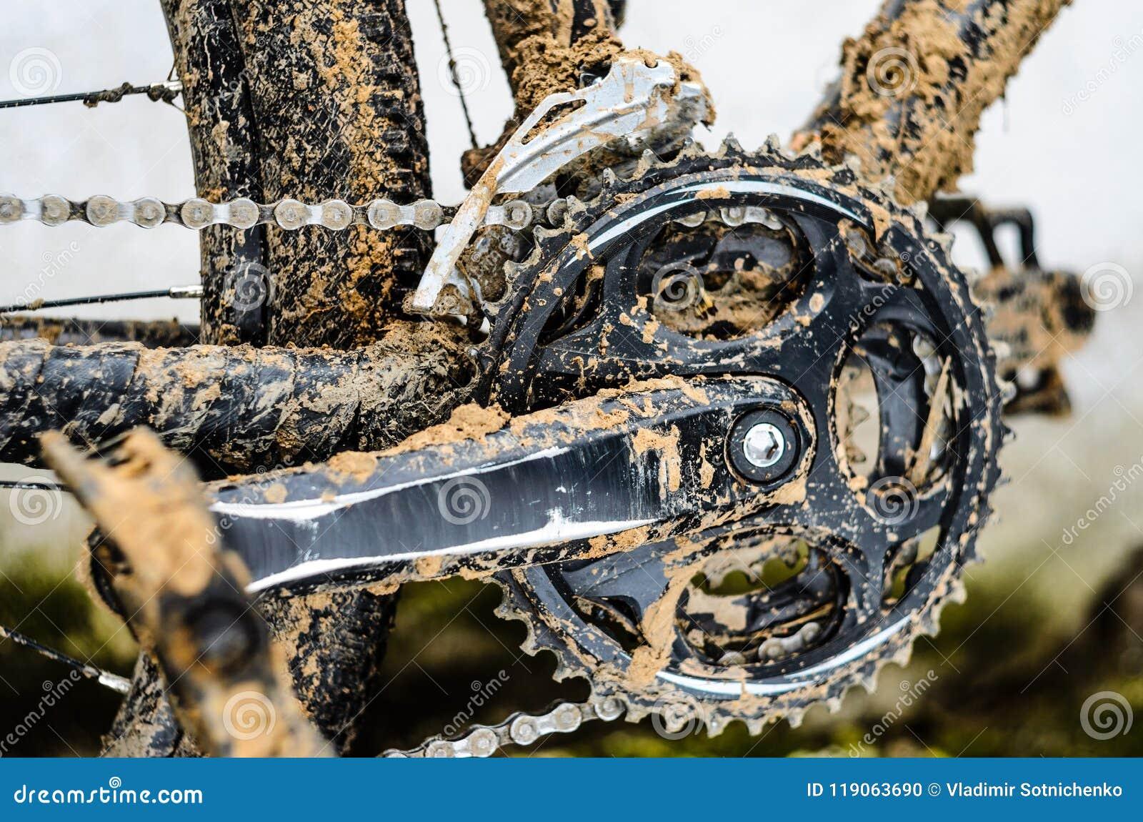 Mountain Bike Transmission In Mud Stock Photo Image Of Mechanism Dirt 119063690