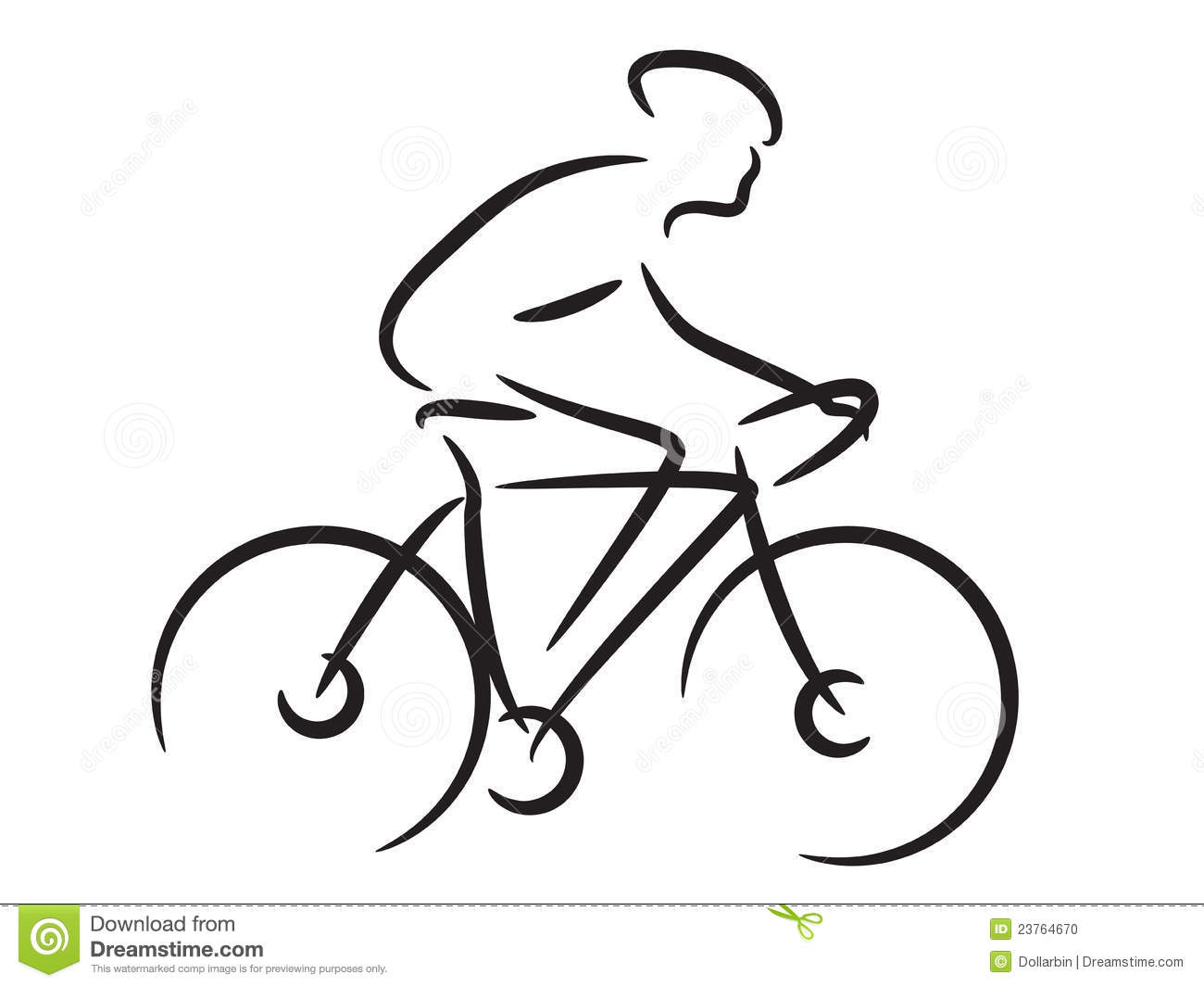 mountain biker stock photo
