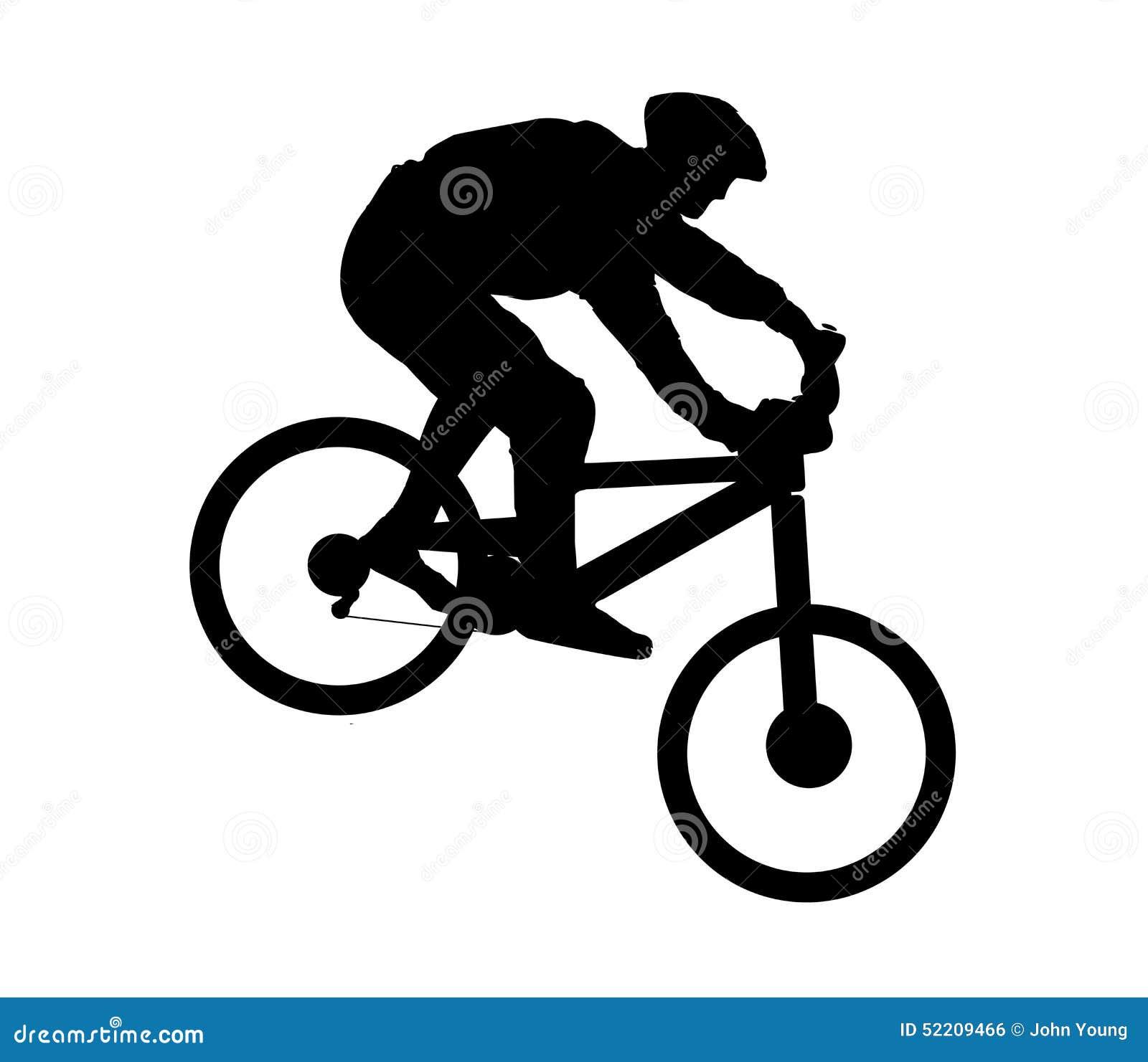 Mountain Biker Stock Vector Image 52209466