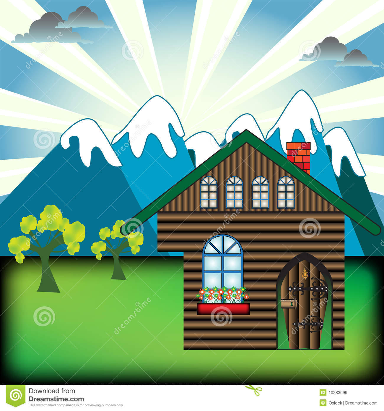 Mountain Cabin Royalty Free Stock Images - Image: 10283099