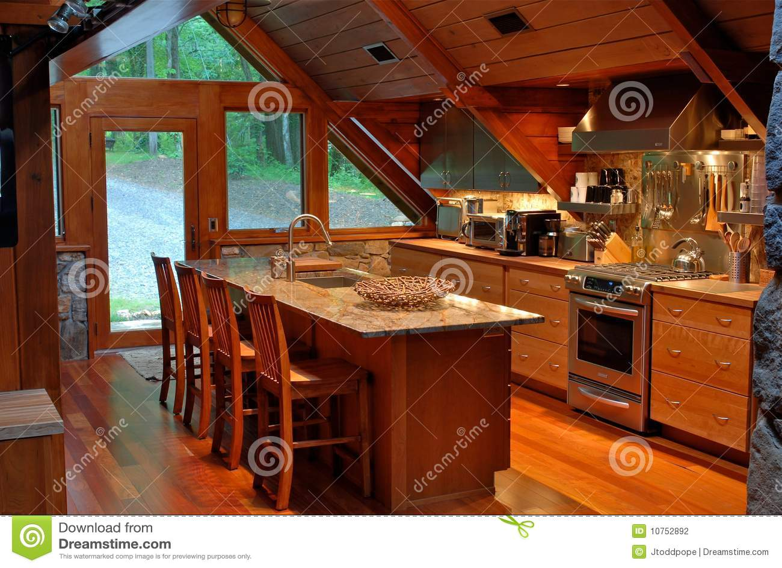 Cabin Kitchen Mountain Cabin Kitchen Stock Photography Image 10752892