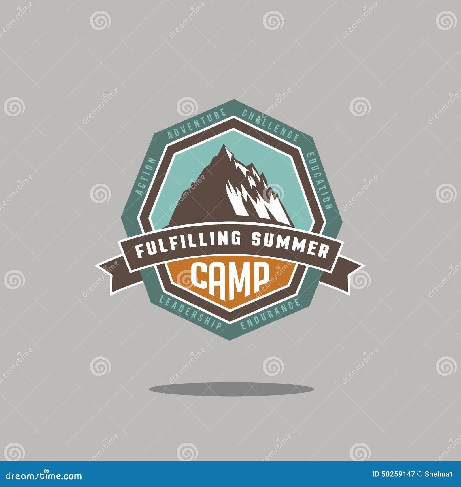 Mountain camp icon EPS 10 vector