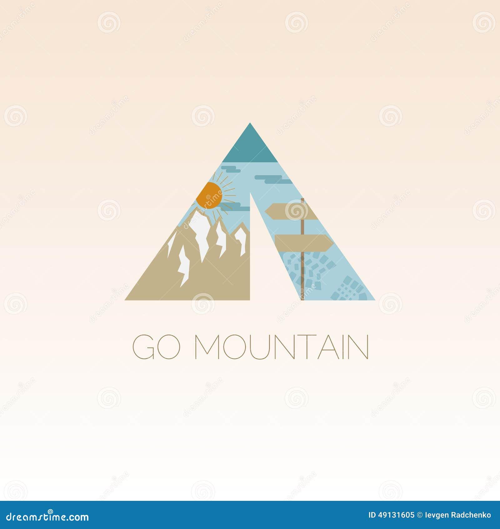 Mountain Camp Logo Design Template Stock Vector Illustration Of